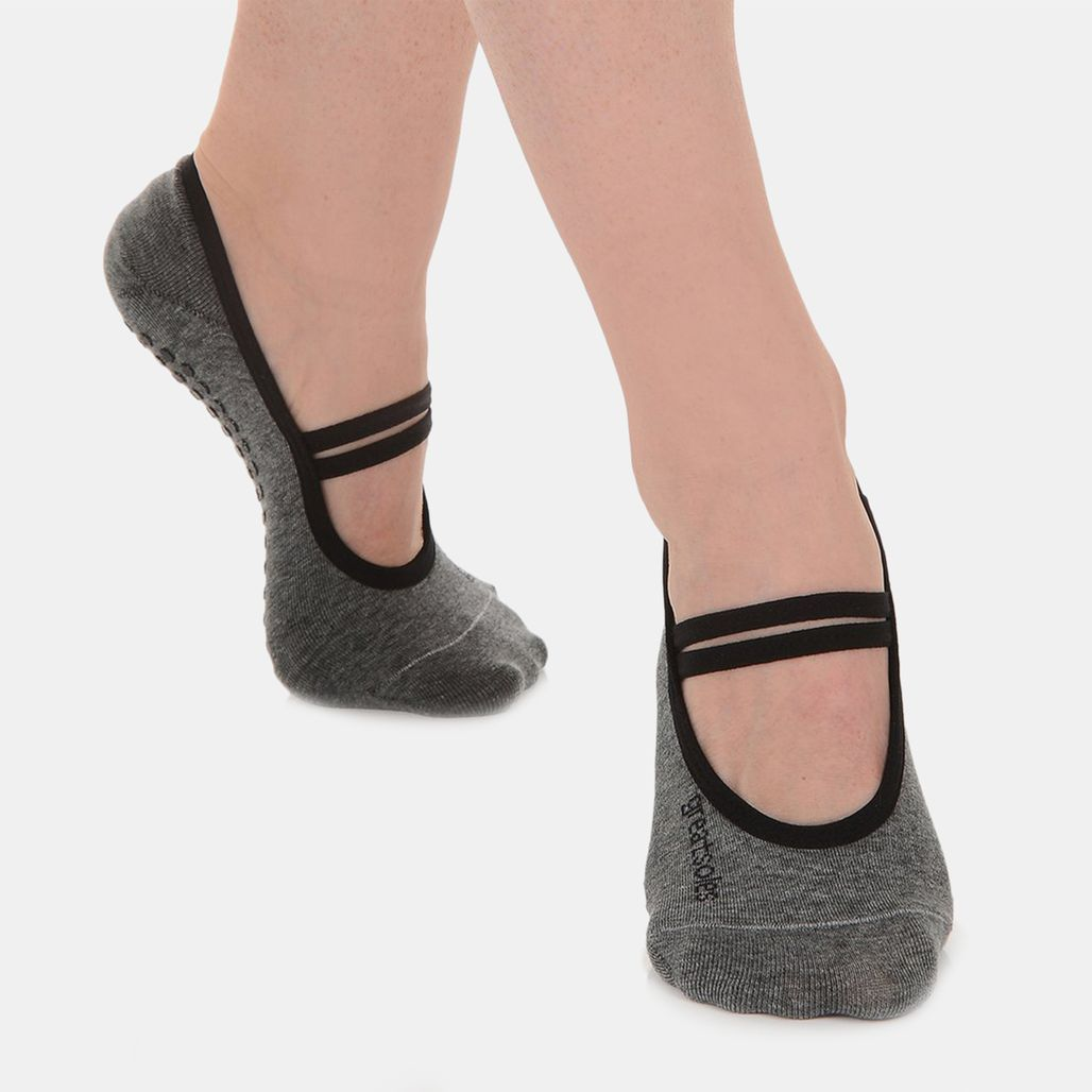 Great Soles Women's Ballet Grip Socks - Grey