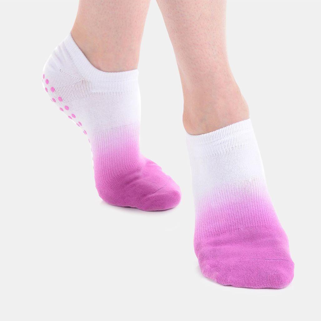 Great Soles Women's Ombre Grip Socks - White