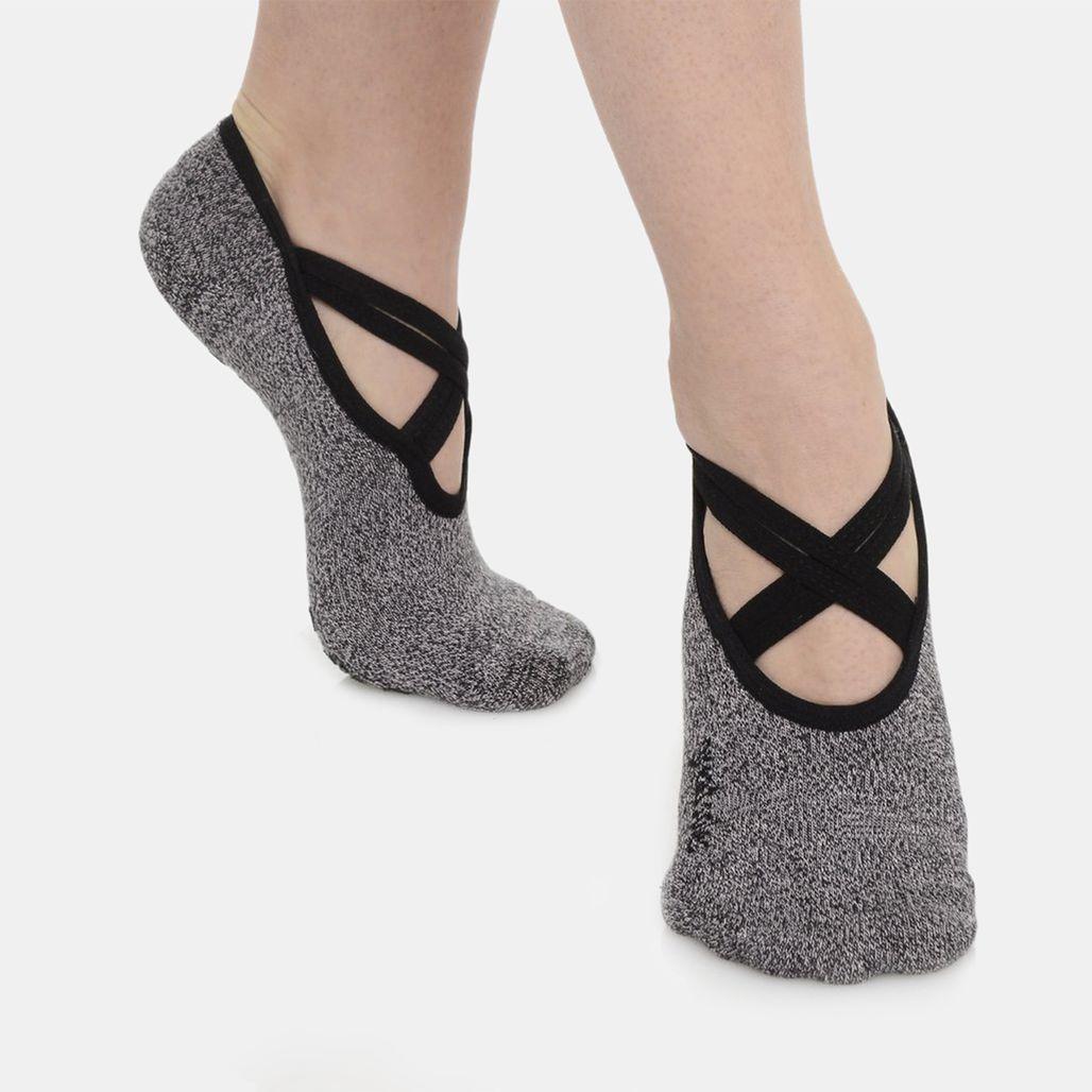 Great Soles Women's Juliet Double Wrap Grip Socks - Grey