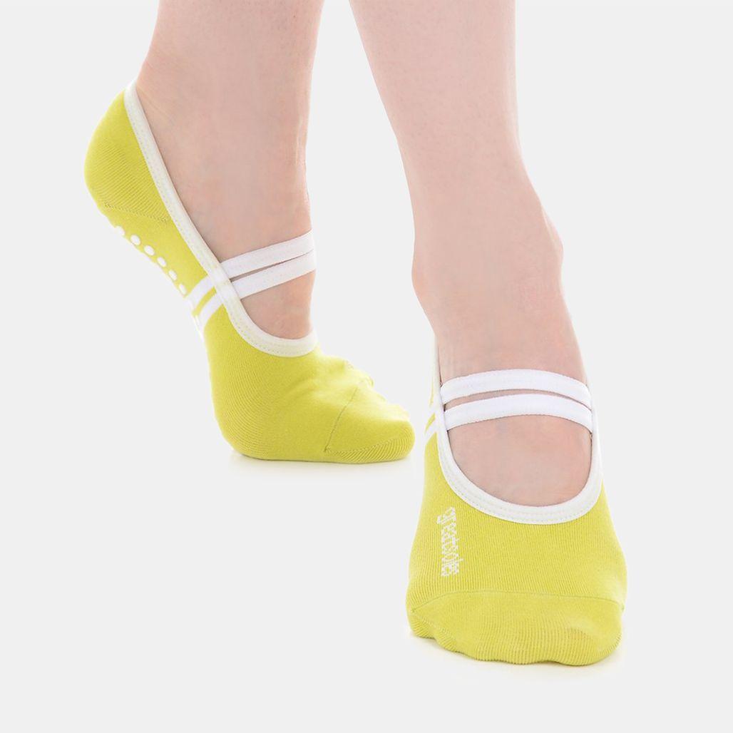 Great Soles Women's Ballet Grip Socks - Yellow