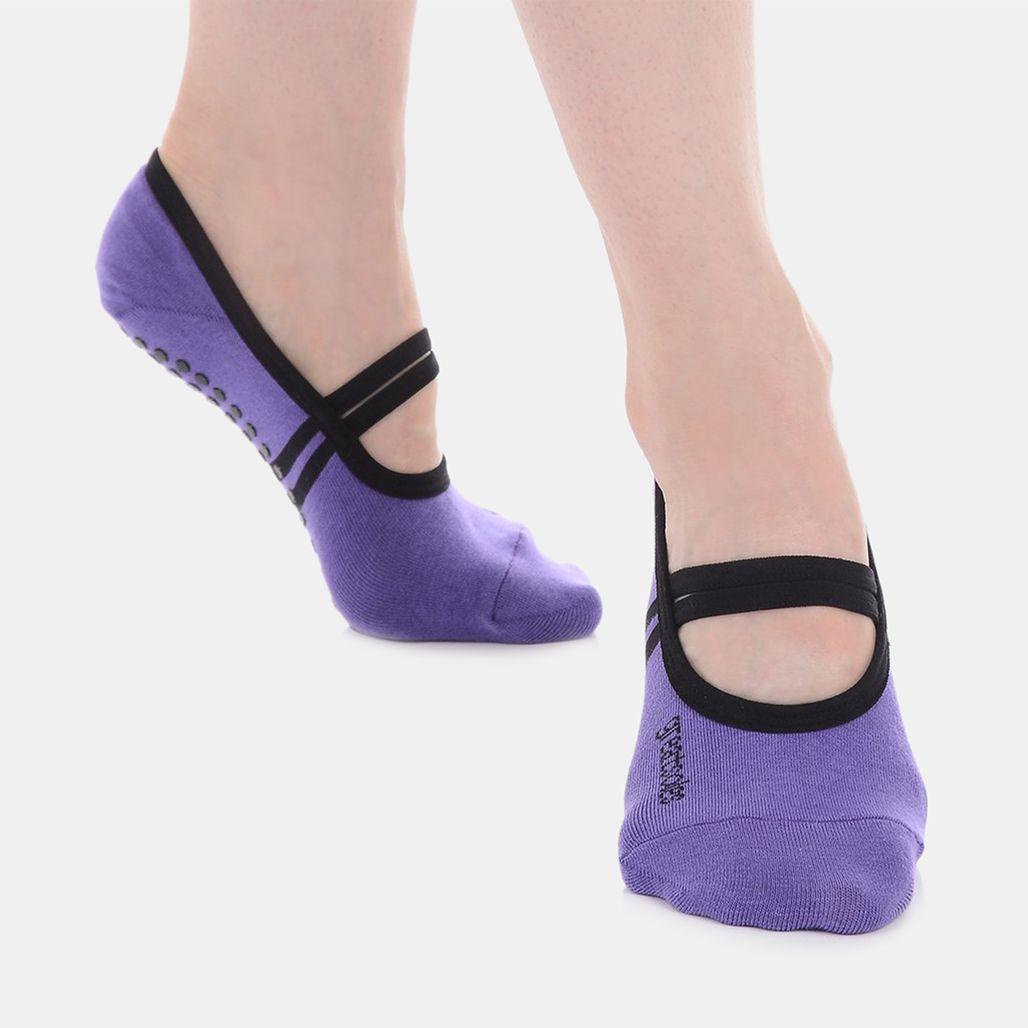 Great Soles Women's Ballet Grip Socks - Purple