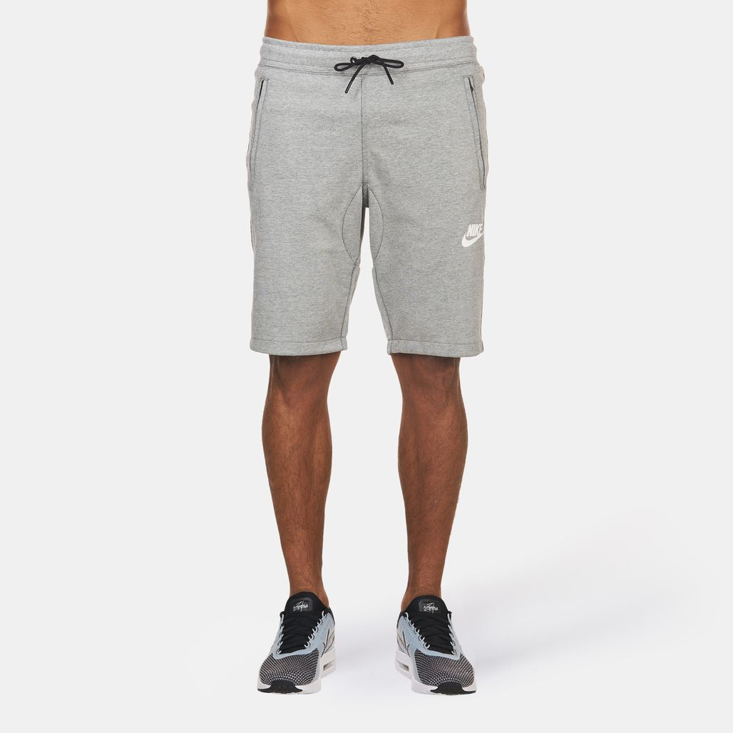 fd381363b9c74 Shop Grey Nike Advance 15 Fleece Shorts for Mens by Nike | SSS