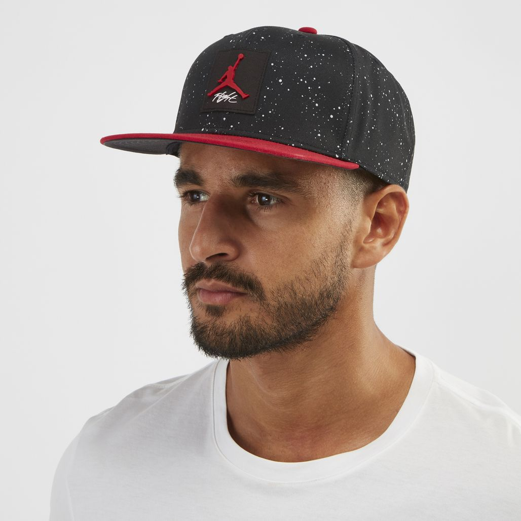 Jordan Pro AOP Snapback Cap - Black