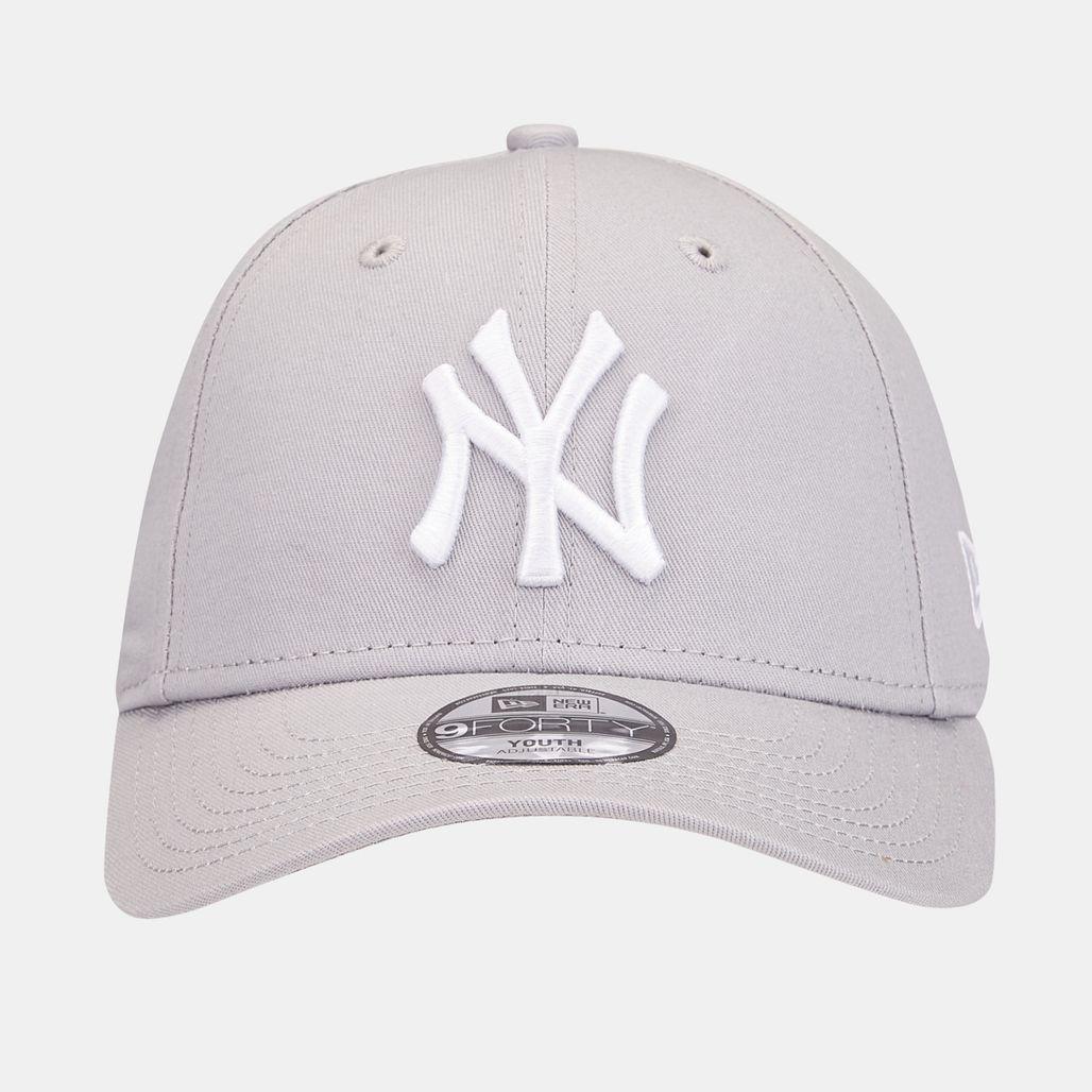 New Era Kids' MLB League Basic New York Yankees 9FORTY Cap - Grey