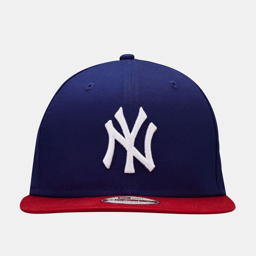 New Era Kids' MLB NY Yankees Cotton Block 9FIFTY Cap (Older Kids) - Blue