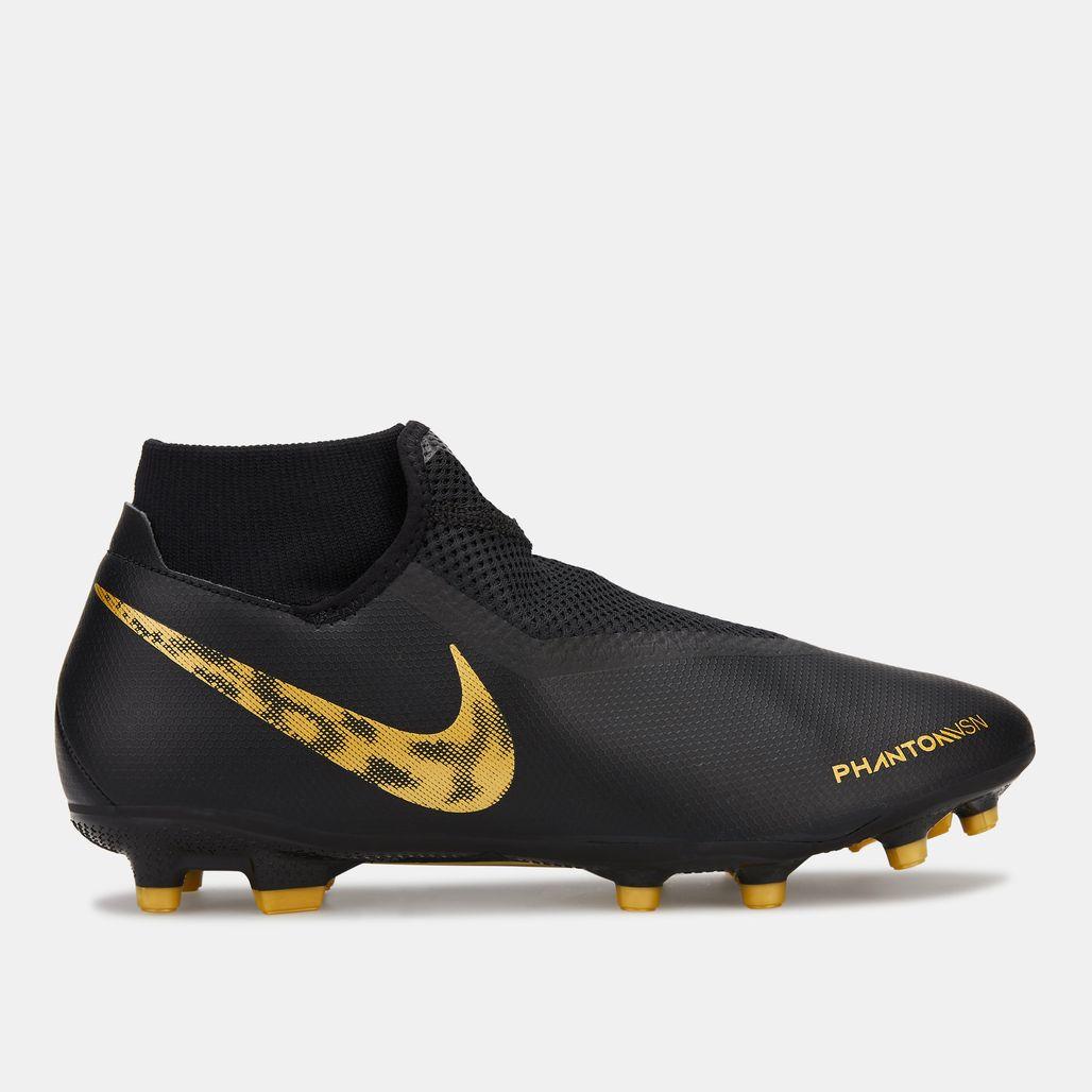 Nike Men's Black Lux Phantom Vision Academy Dynamic Fit Multi-Ground Football Shoe