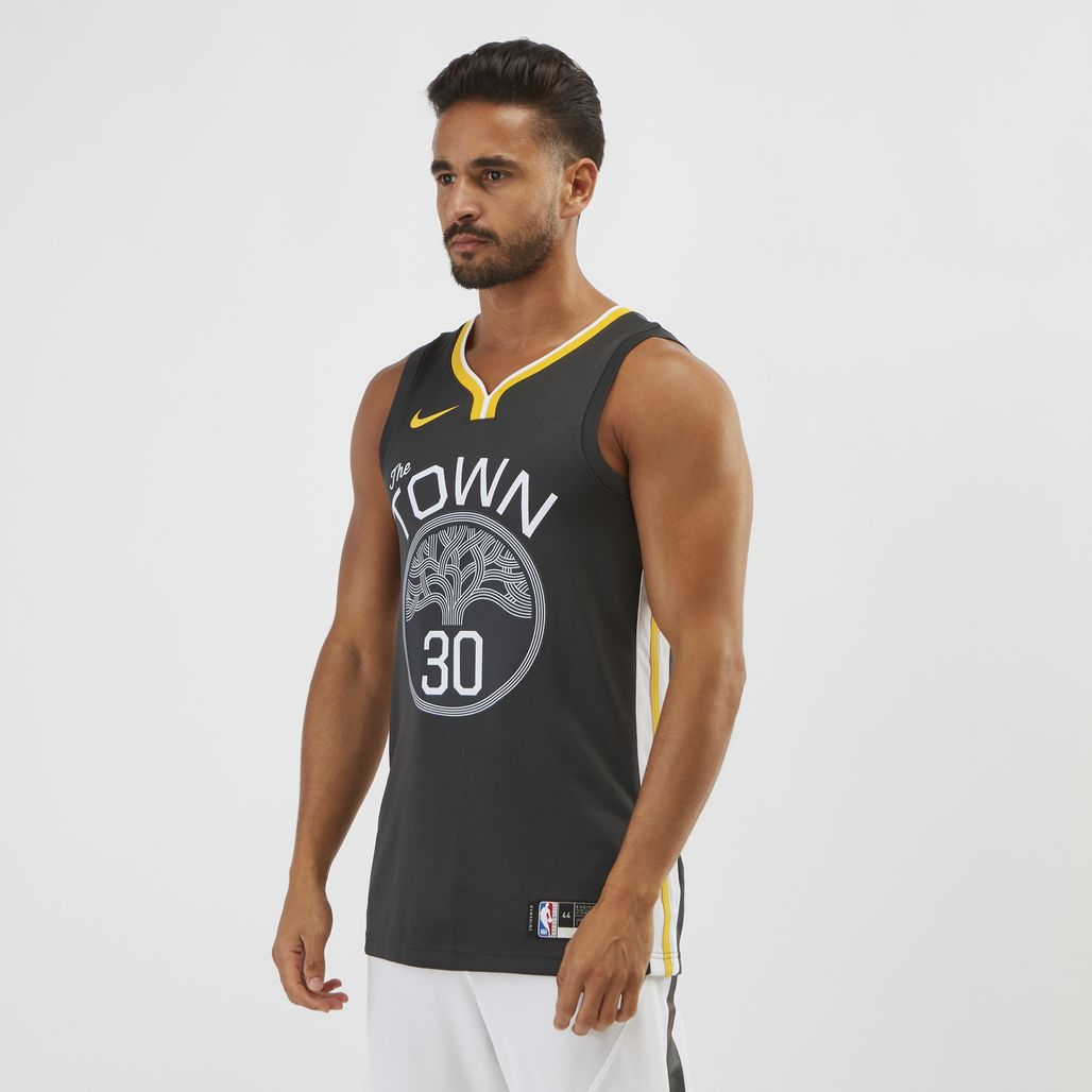 Nike NBA Golden State Warriors Stephen Curry Swingman Basketball Jersey