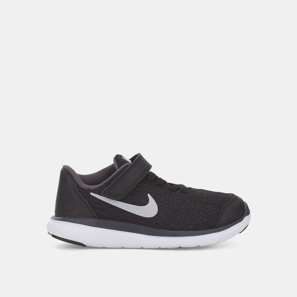 91f46655f39a Shop Black Nike Kids  Flex 2017 Running Shoe (PSV) for Kids by Nike ...