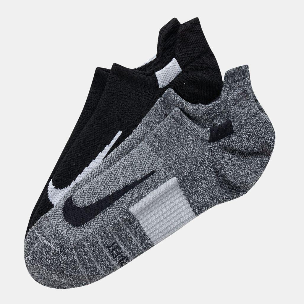 Nike Multiplier No Show Socks (2 Pair)