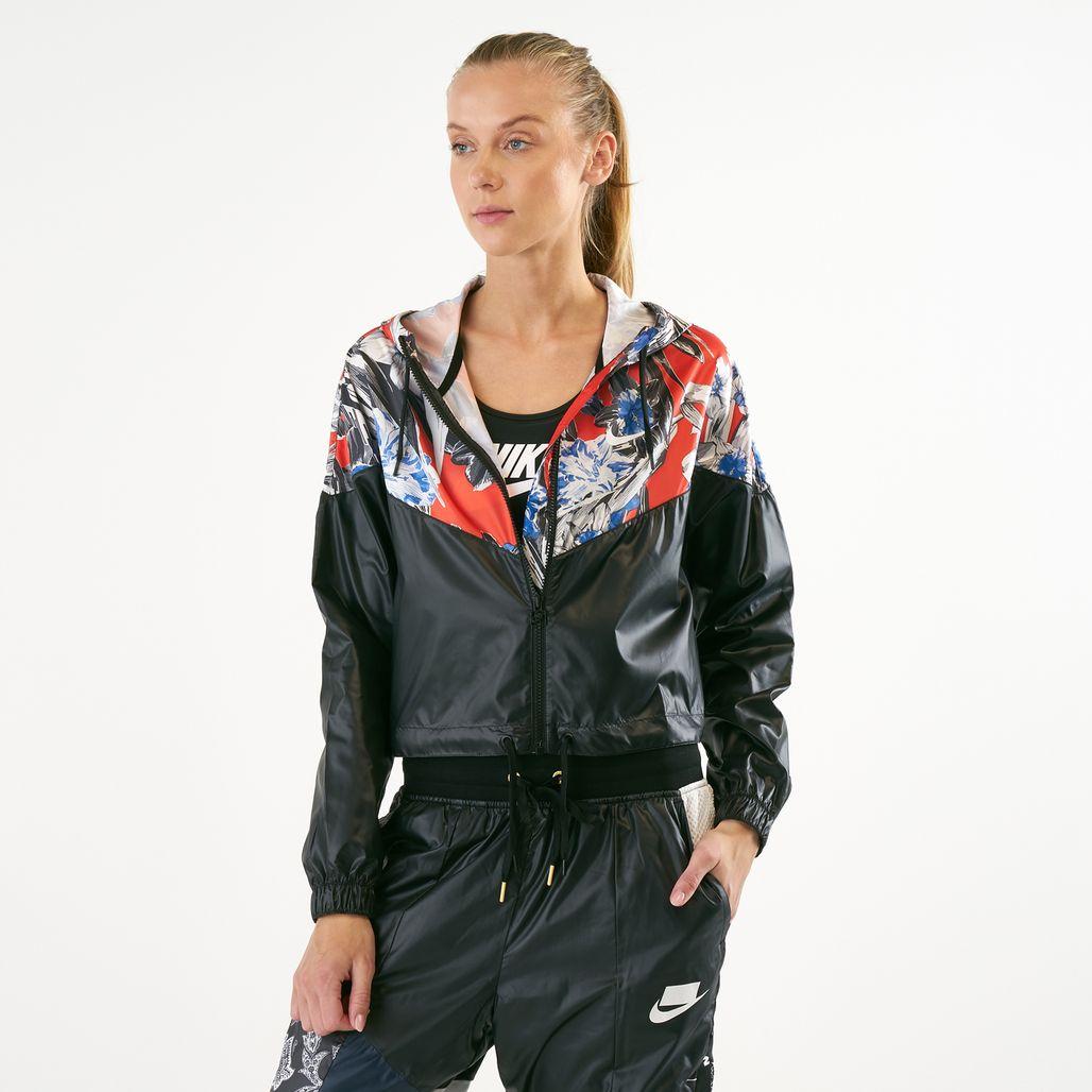 Nike Women's Sportswear Allover Print Cropped Jacket