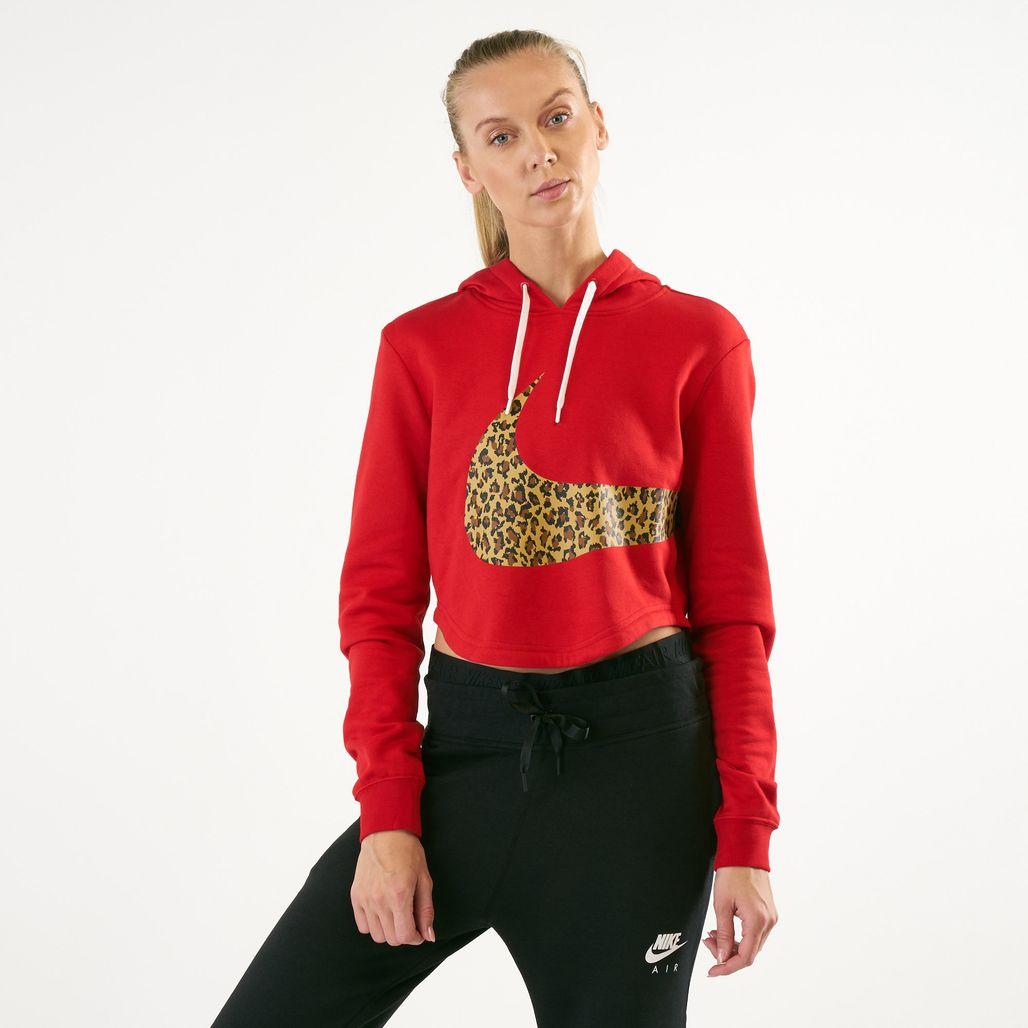 Nike Women's Sportswear Cropped Animal Hoodie