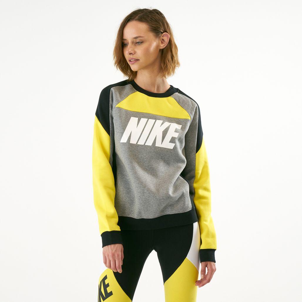 Nike Women's Sportswear Fleece Colour-Block Sweatshirt