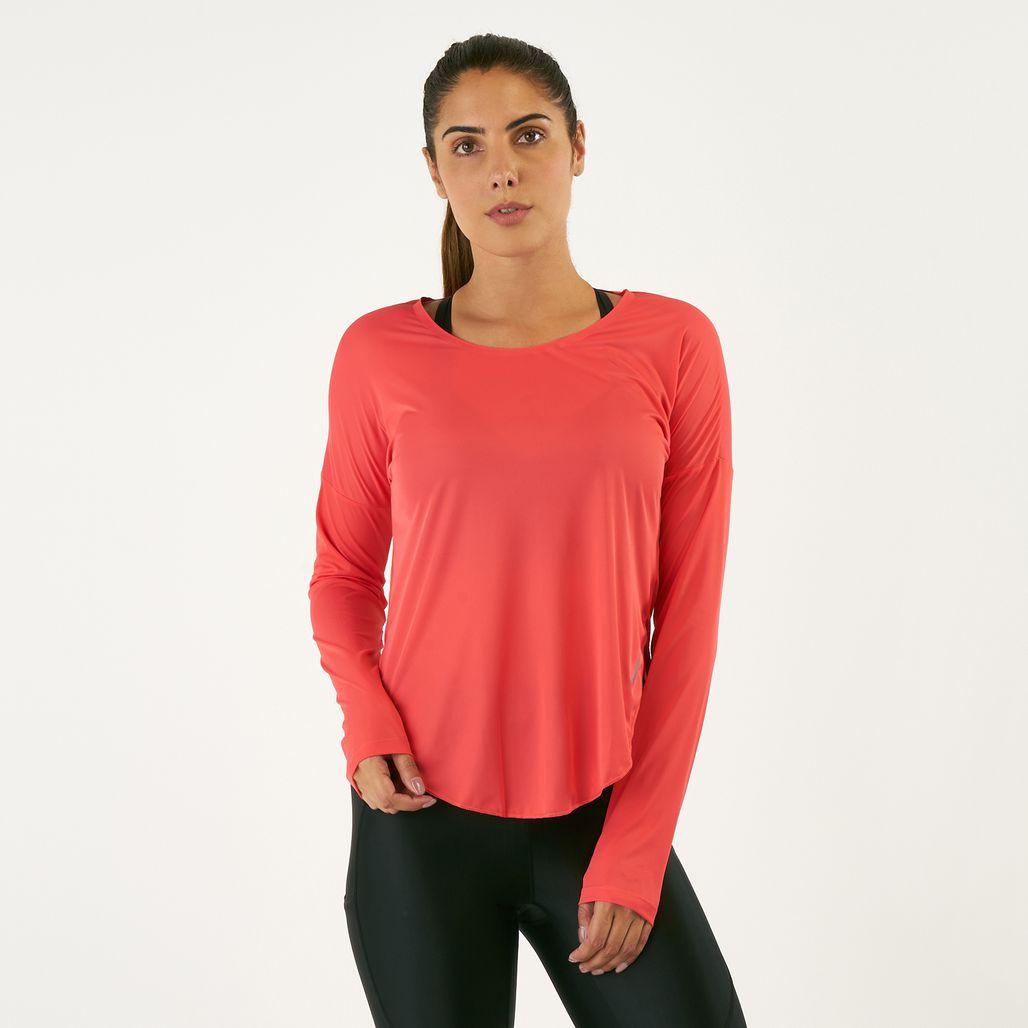 قميص نايك سيتي سليك طويل الأكمام من نايك للنساء