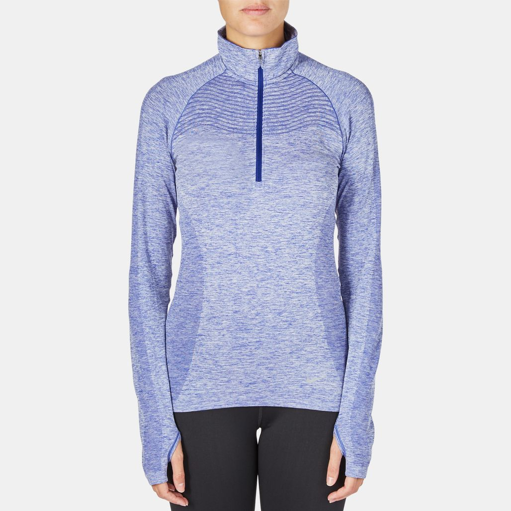 Nike Dri-FIT Knit Half-Zip Running T-Shirt