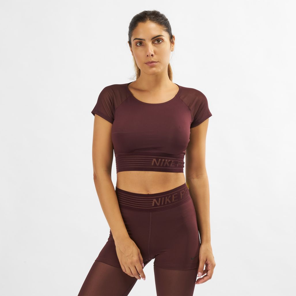 Nike Pro Deluxe Cropped Training T-Shirt