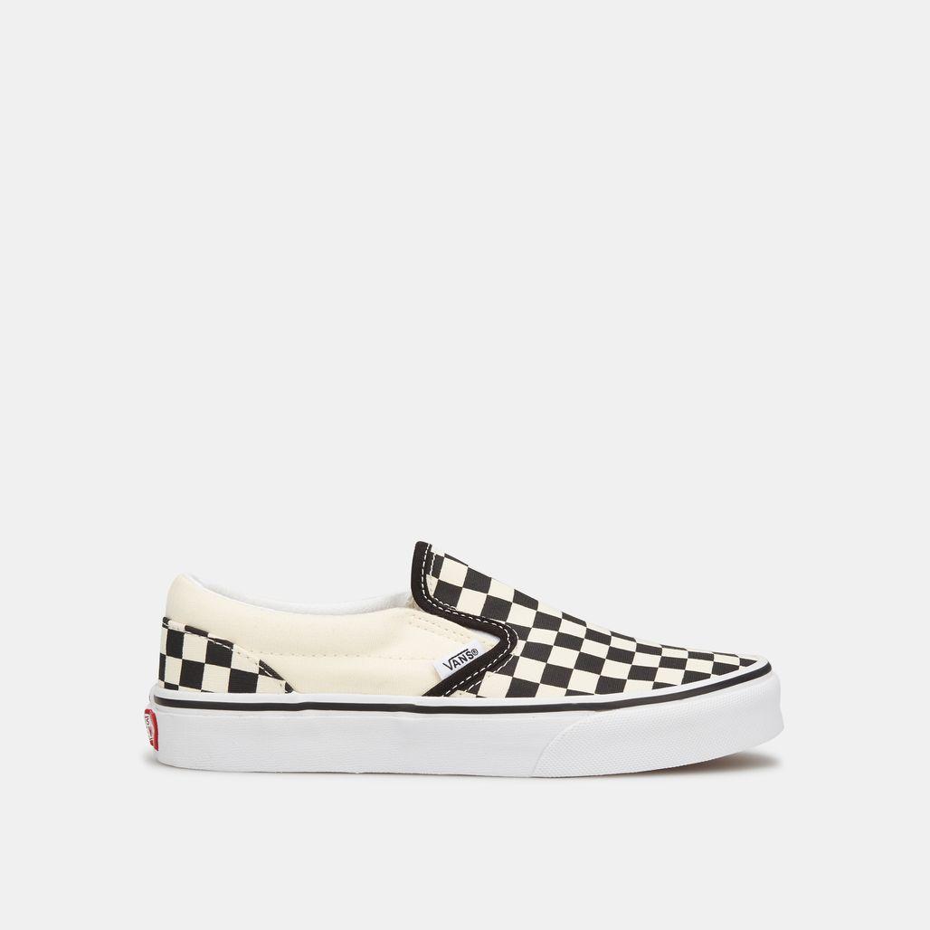 Vans Kids' Checkerboard Classic Slip-On Shoe (Older Kids)