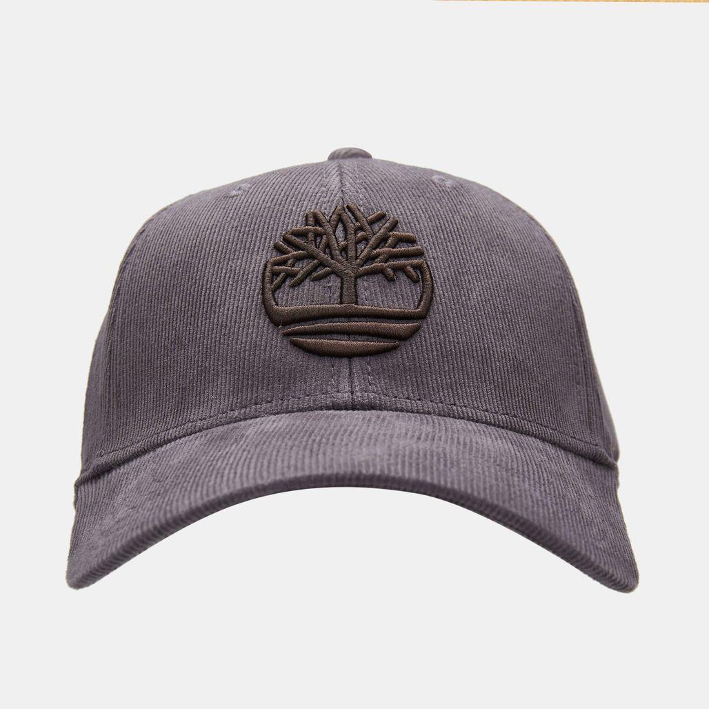 Timberland Men's Corduroy Logo Cap - Grey