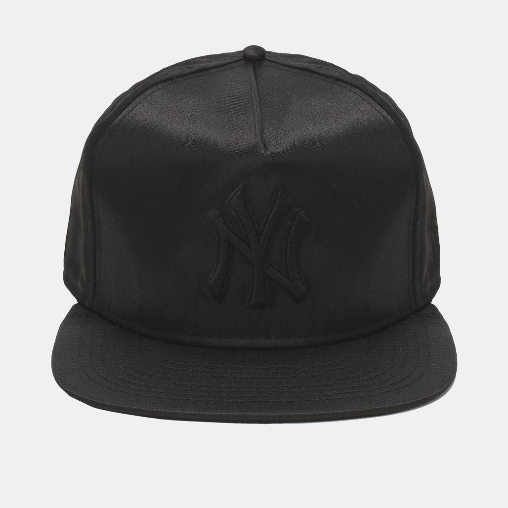 New Era MLB Team Satin NY Yankee Cap - Black