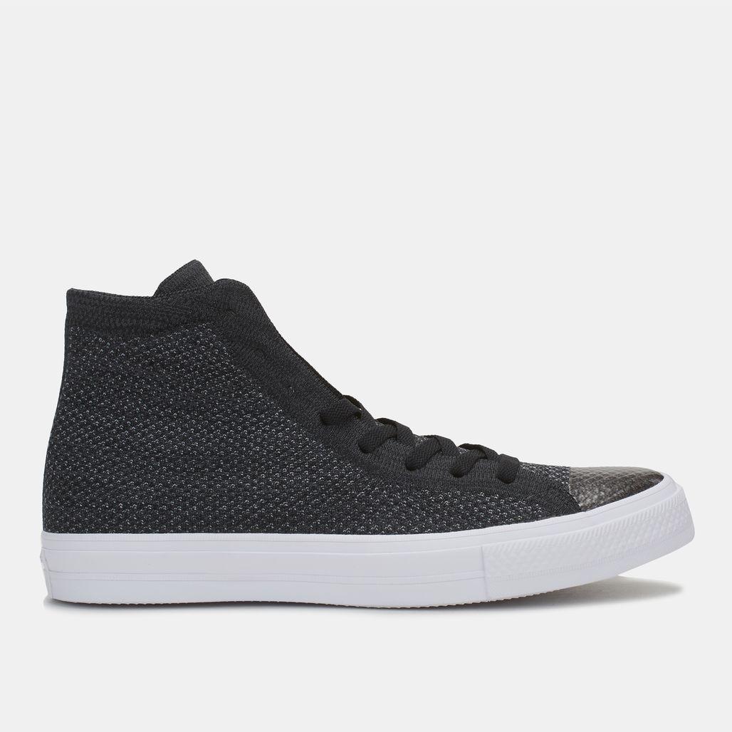 888ea64a3c96 Shop Black Converse Chuck Taylor All Star X Nike Flyknit High Top ...