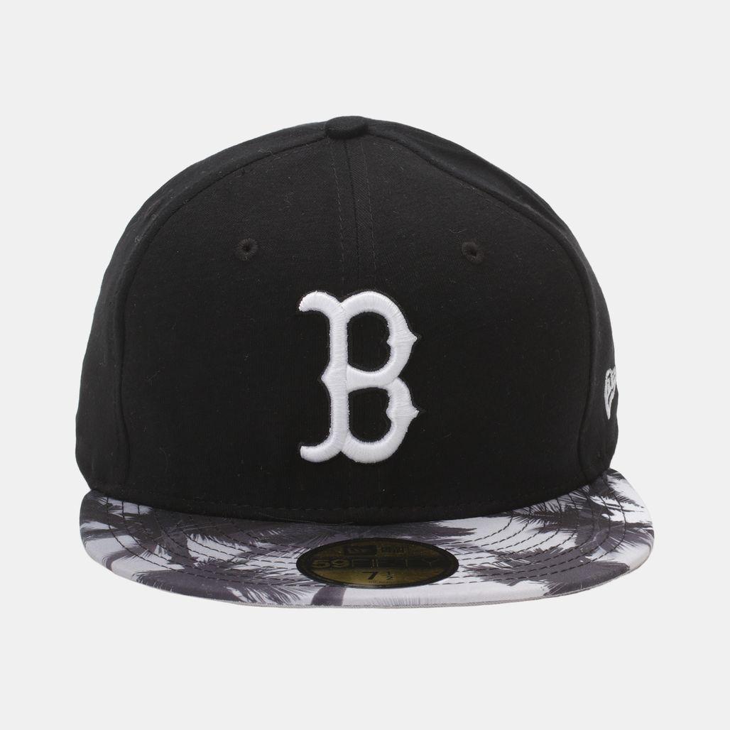 New Era Miami Vibe 59Fifty Flat Bill Boston Red Sox Cap - Black