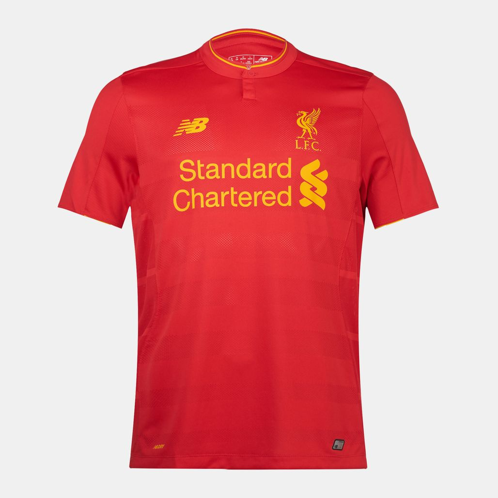 15a411092dd Shop Red New Balance Liverpool FC Home Football Jersey for Mens by ...
