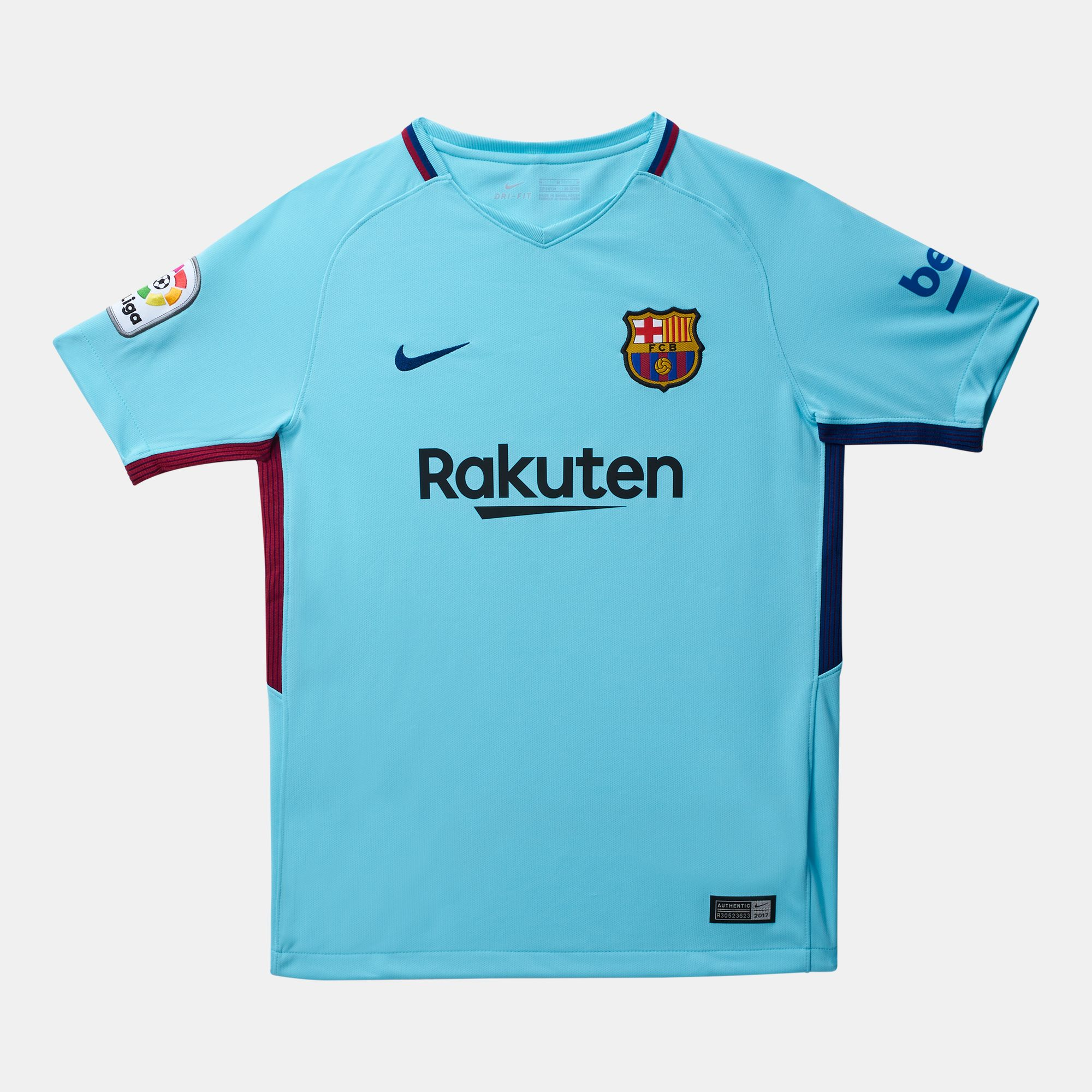 02bf37bede9 Shop Blue Nike Kids' FC Barcelona Stadium Away T-Shirt - 2017/2018 ...