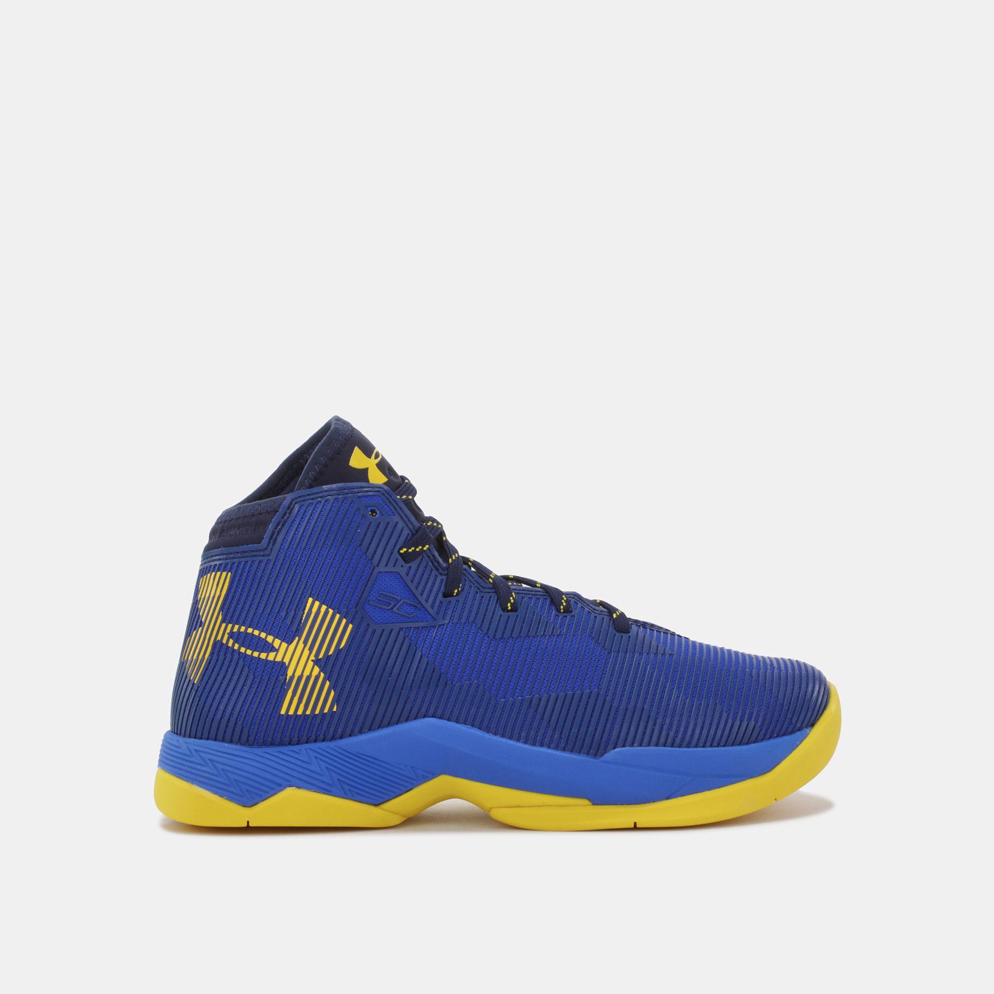 Shop Blue Under Armour Kids Grade School Ua Curry 25 Basketball