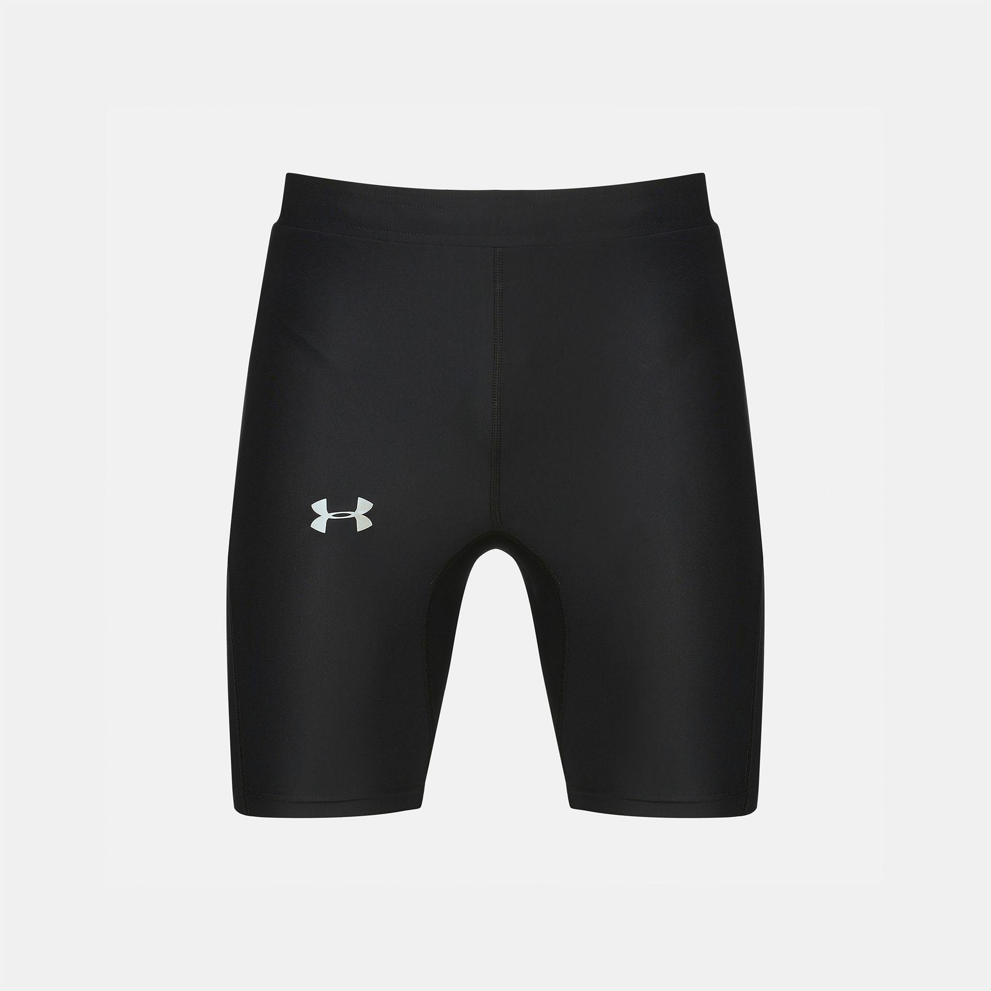 a452ff1f3a372 Shop Black Under Armour Run True Half Tight Running Shorts for Mens ...