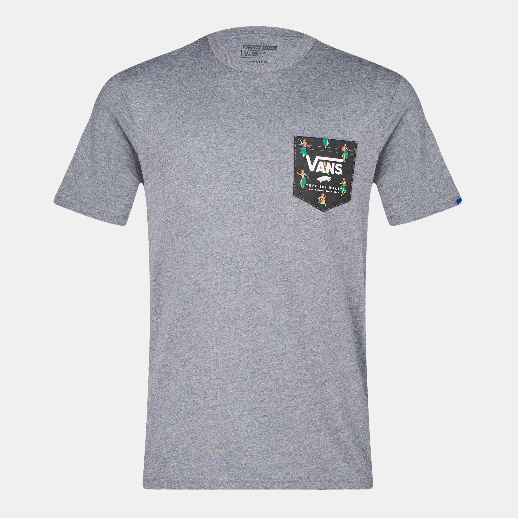 b5b0cfe75a0cb0 Shop Grey Vans Print Box Pocket T-Shirt for Mens by Vans