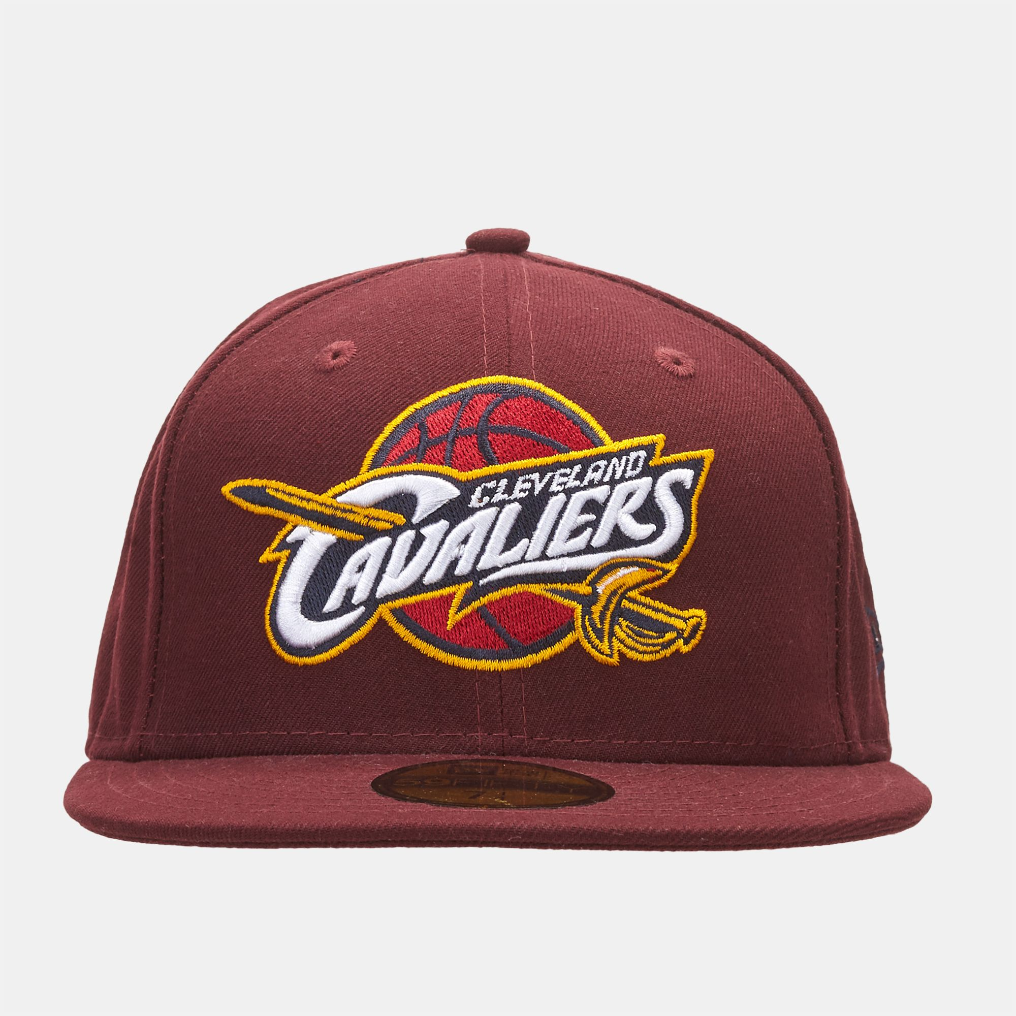 Shop Red New Era NBA Logo Cleveland Cavaliers 59FIFTY Cap for Unisex ... ec5b73053