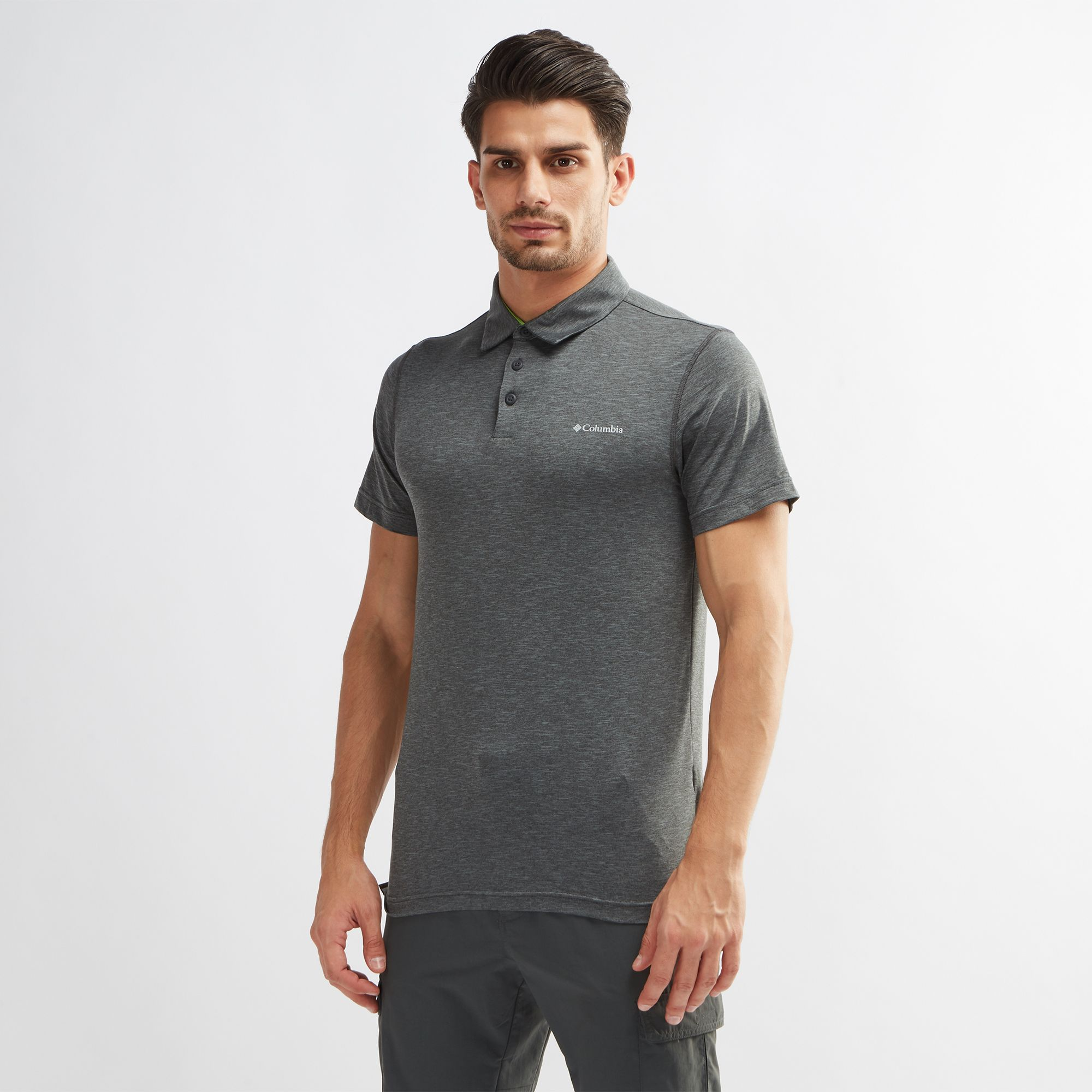 32a4843df Shop Grey Columbia Tech Trail™ Polo T-Shirt for Mens by Columbia | SSS