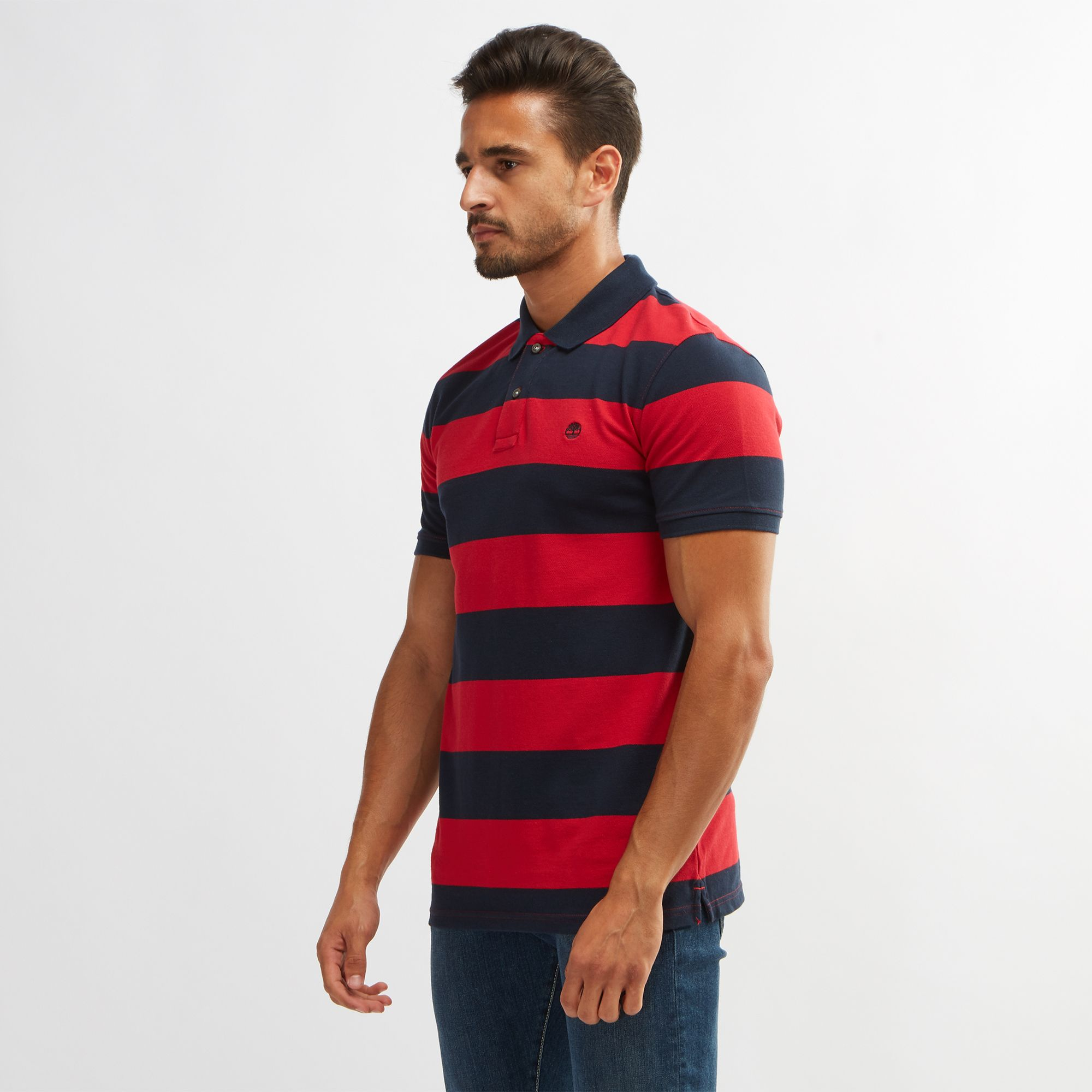 Timberland Millers River Pique Stripe Polo T Shirt Polo Shirts