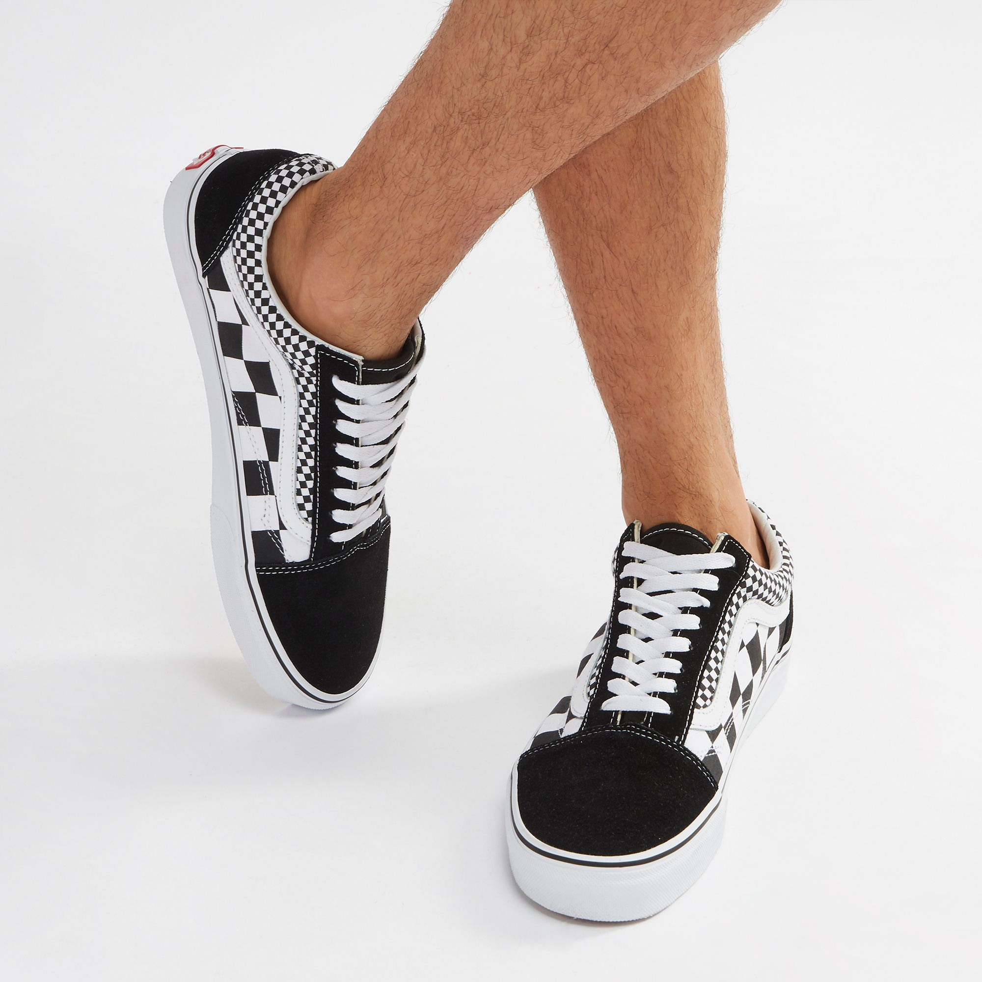 516f4a49a0 Shop Black Vans Old Skool Mix Checkered Shoe for Unisex by Vans