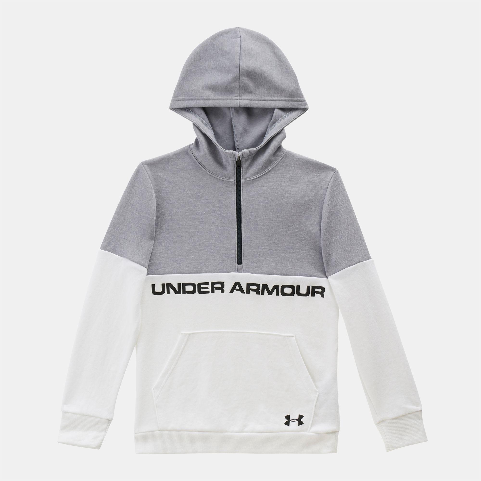 Reebok Boys Sporty Double Knit Zip-up Hooded Jacket Jacket