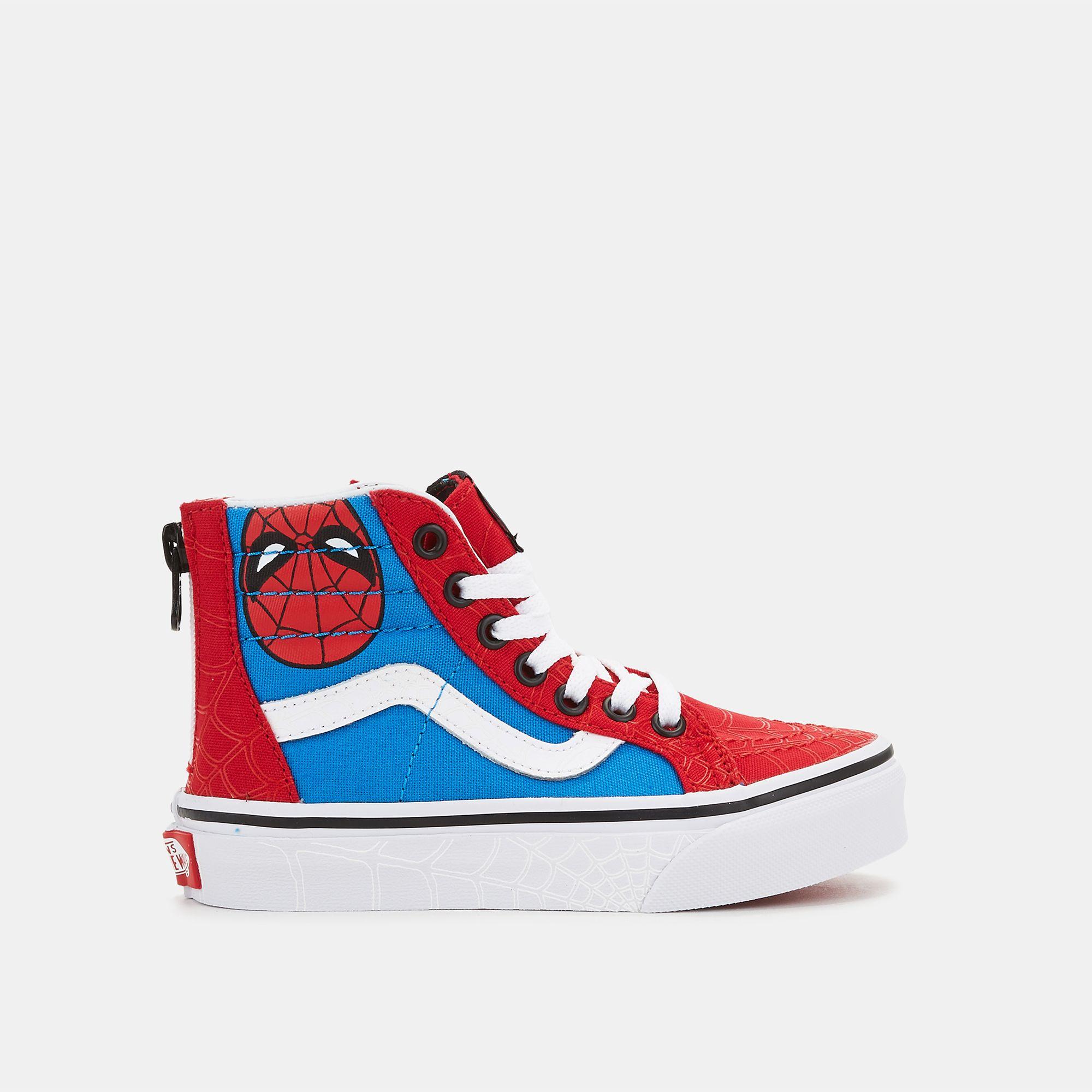Vans Kids' x Marvel SK8 Hi Zip Shoe | Skateboarding Shoes