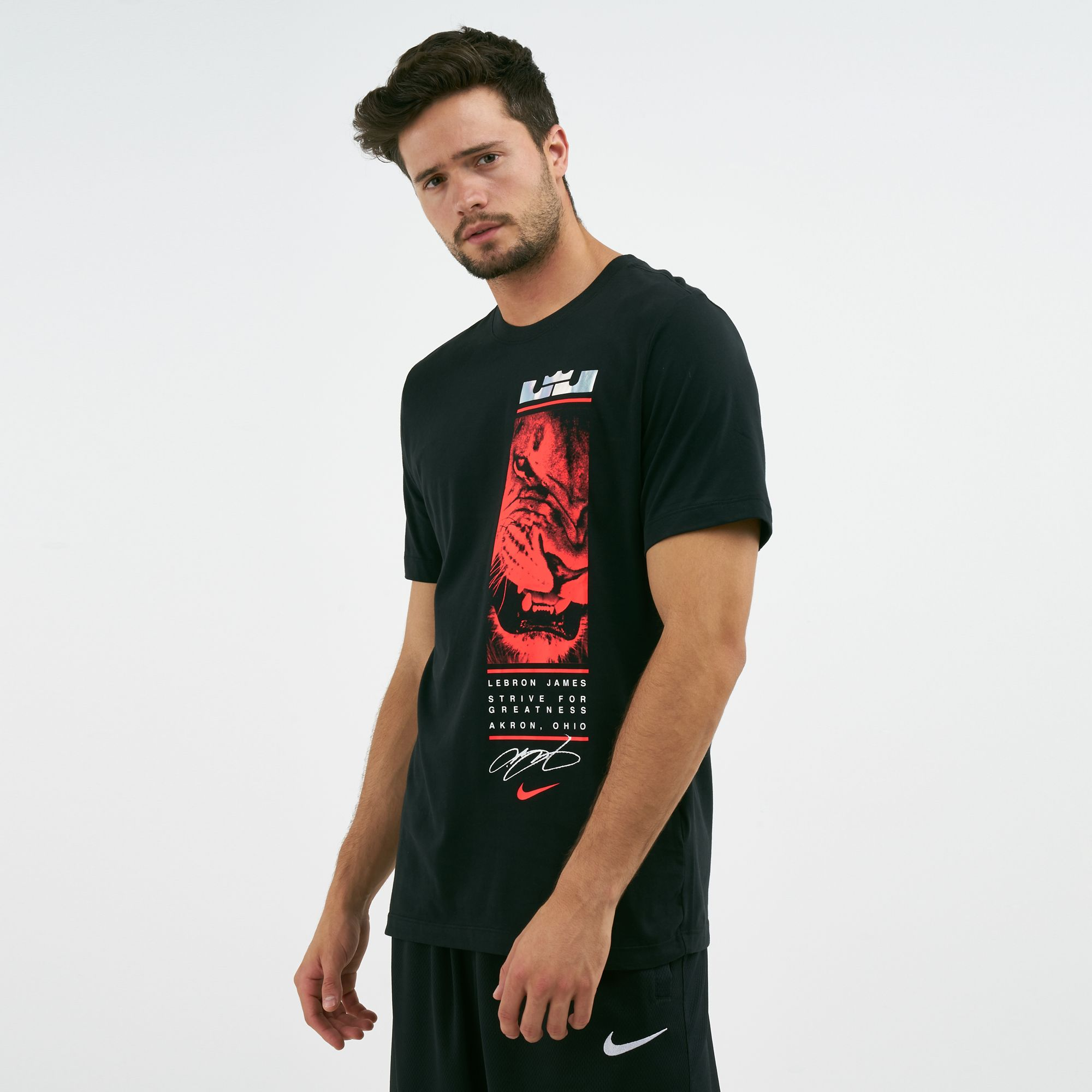 c6764806 Nike Men's Dry LeBron James Lion Graphic T-Shirt | T-Shirts | Tops ...