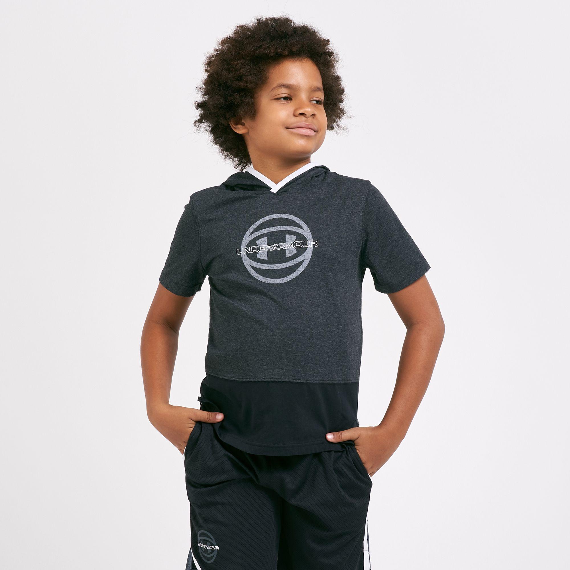 Under Armour Kids' Baseline Short Sleeves Hoodie (Older Kids)