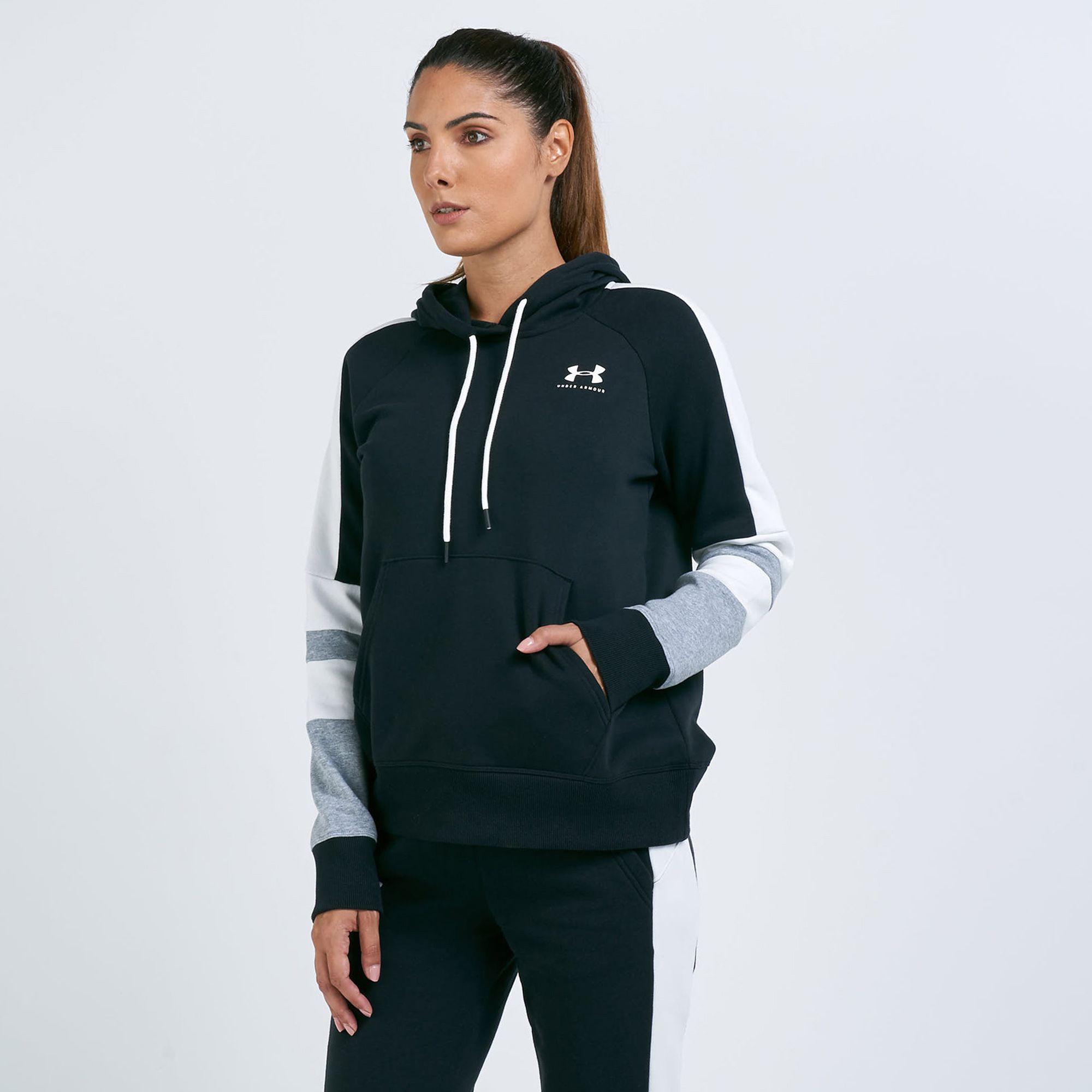 Under Armour Women's Rival Fleece LC Logo Novelty Hoodie