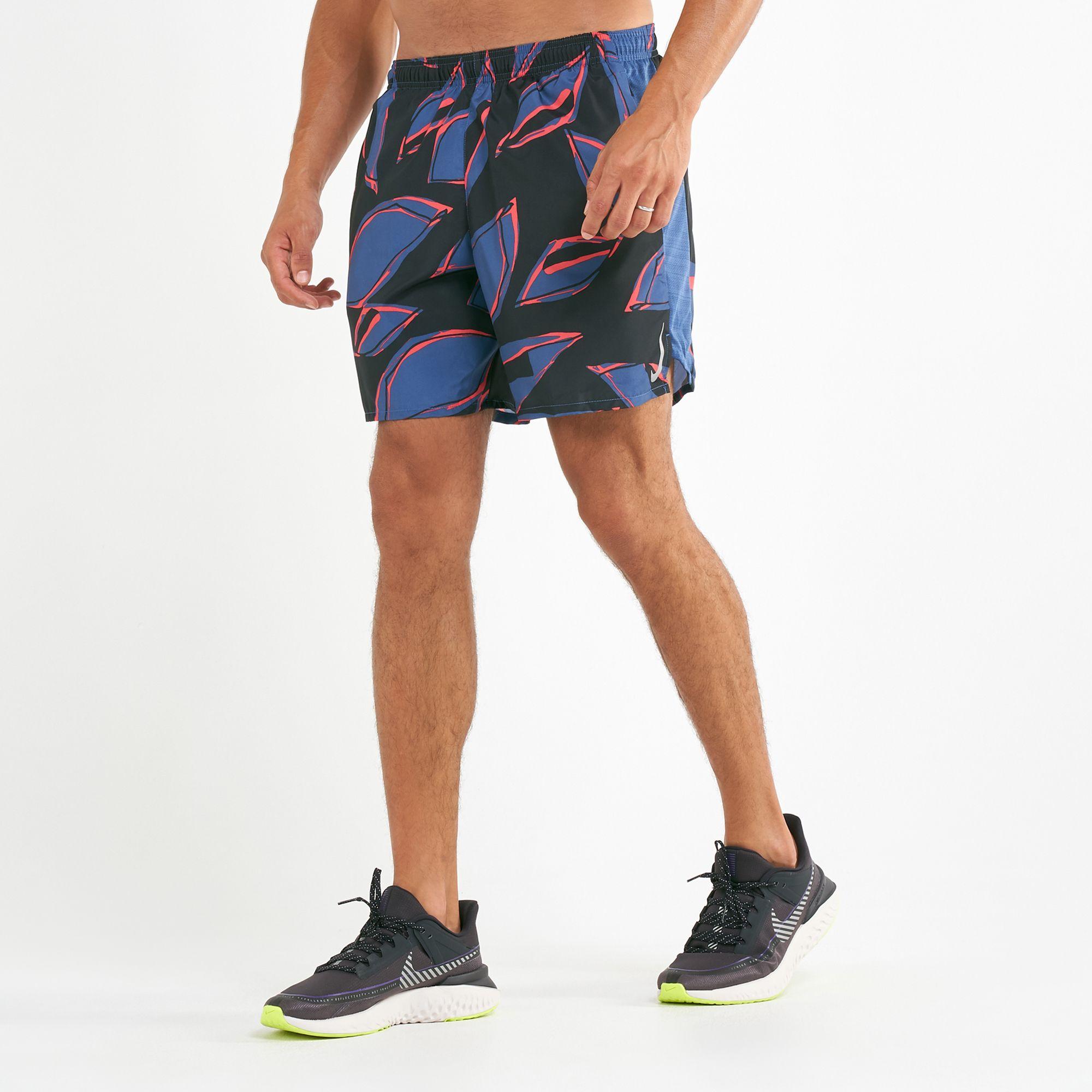 "Nike CHALLENGER MEN/'S 5"" RUNNING SHORTS Waistband,BLACK- Size S L XL Or 2XL M"