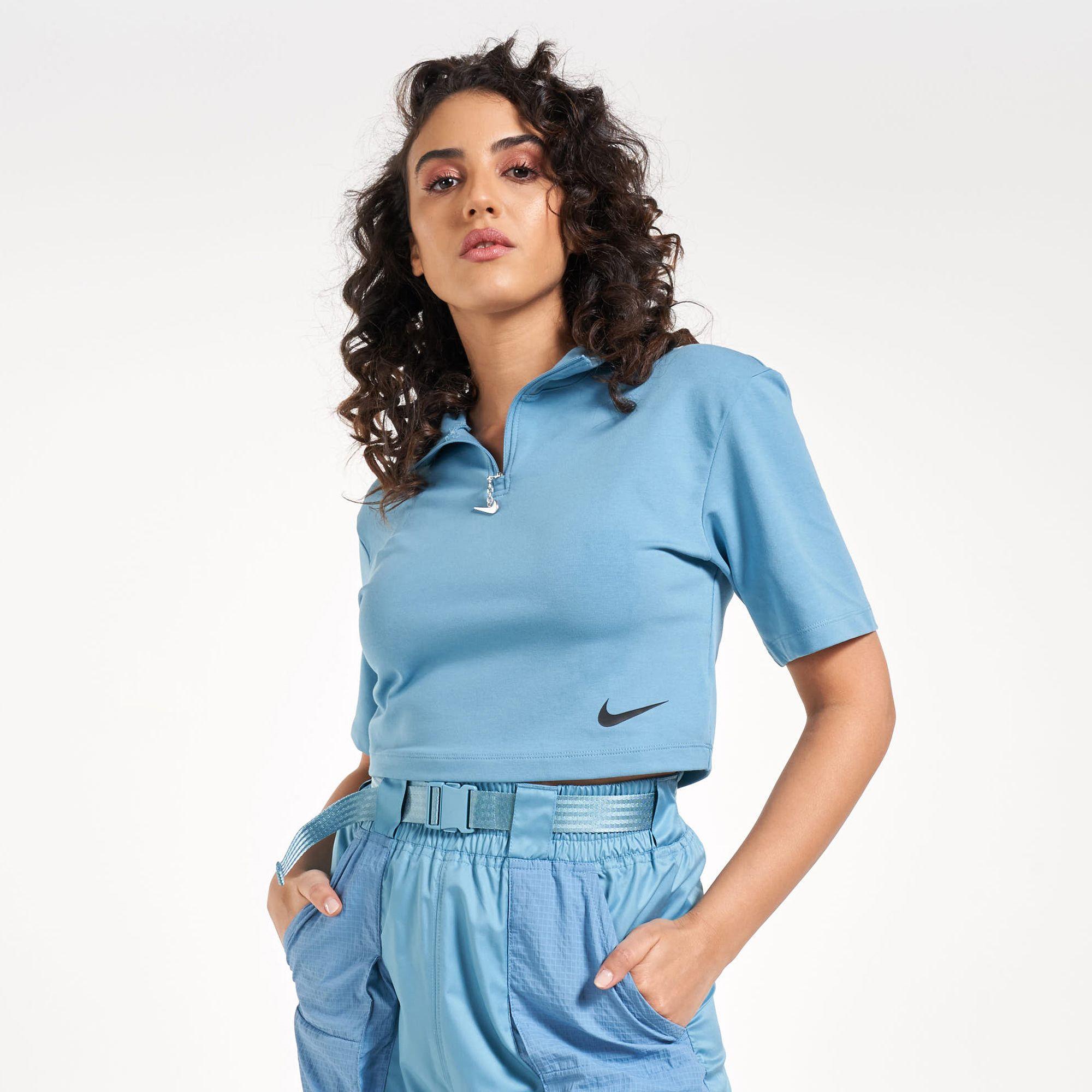 Nike Women's Sportswear Swoosh Mock Neck T-Shirt