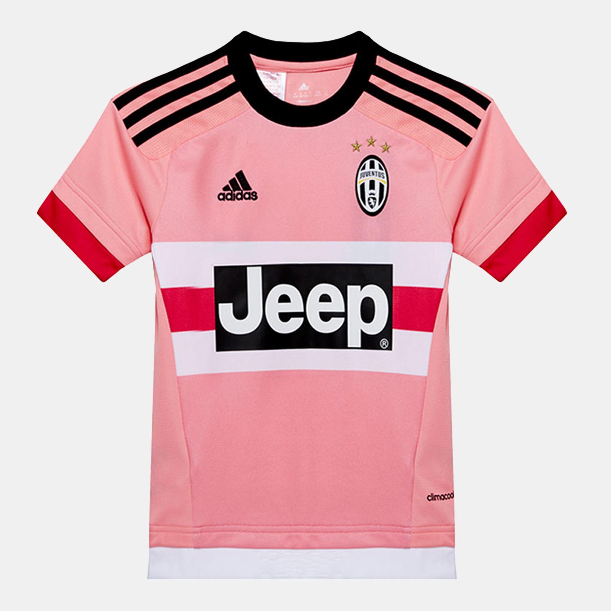 921829a0b4b Shop Pink adidas Juventus Away Replica Player Kids  Jersey for Kids ...