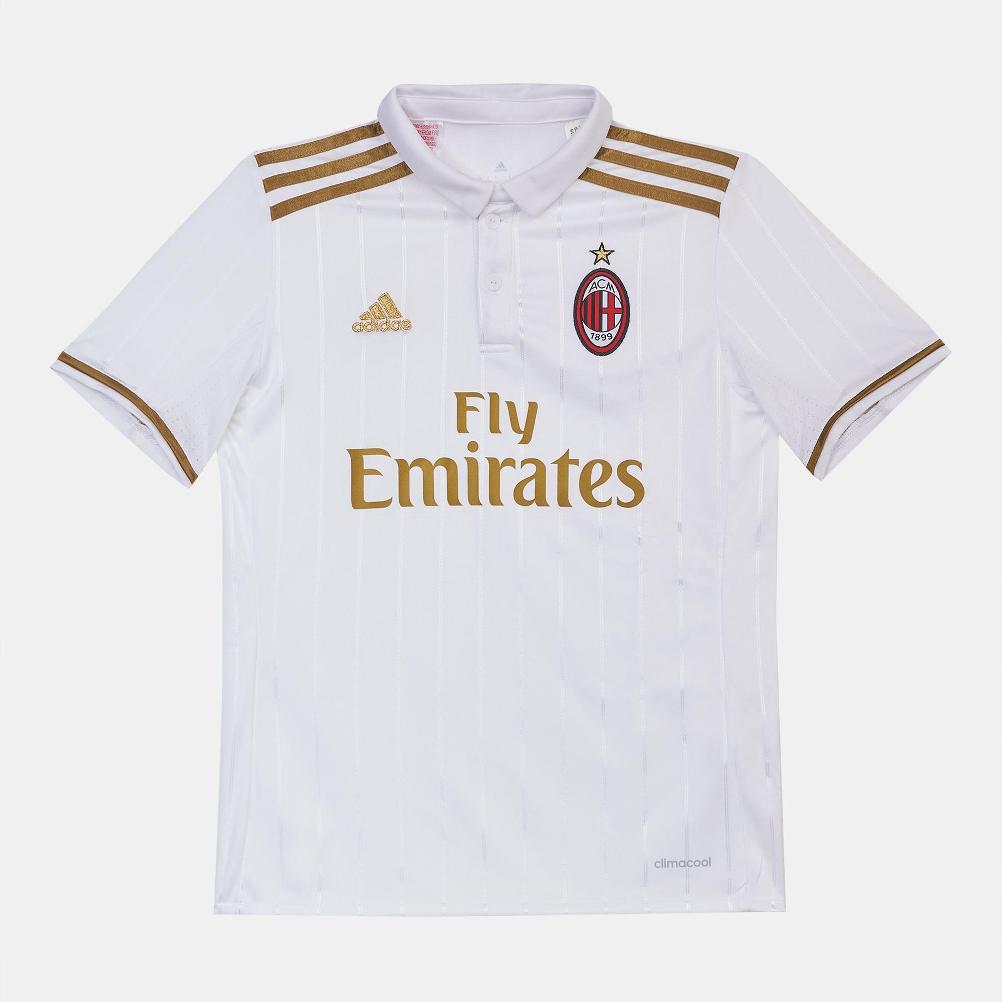 728b2ddbc Shop White adidas Kids' AC Milan Replica Away Football Jersey for Kids by  adidas | SSS