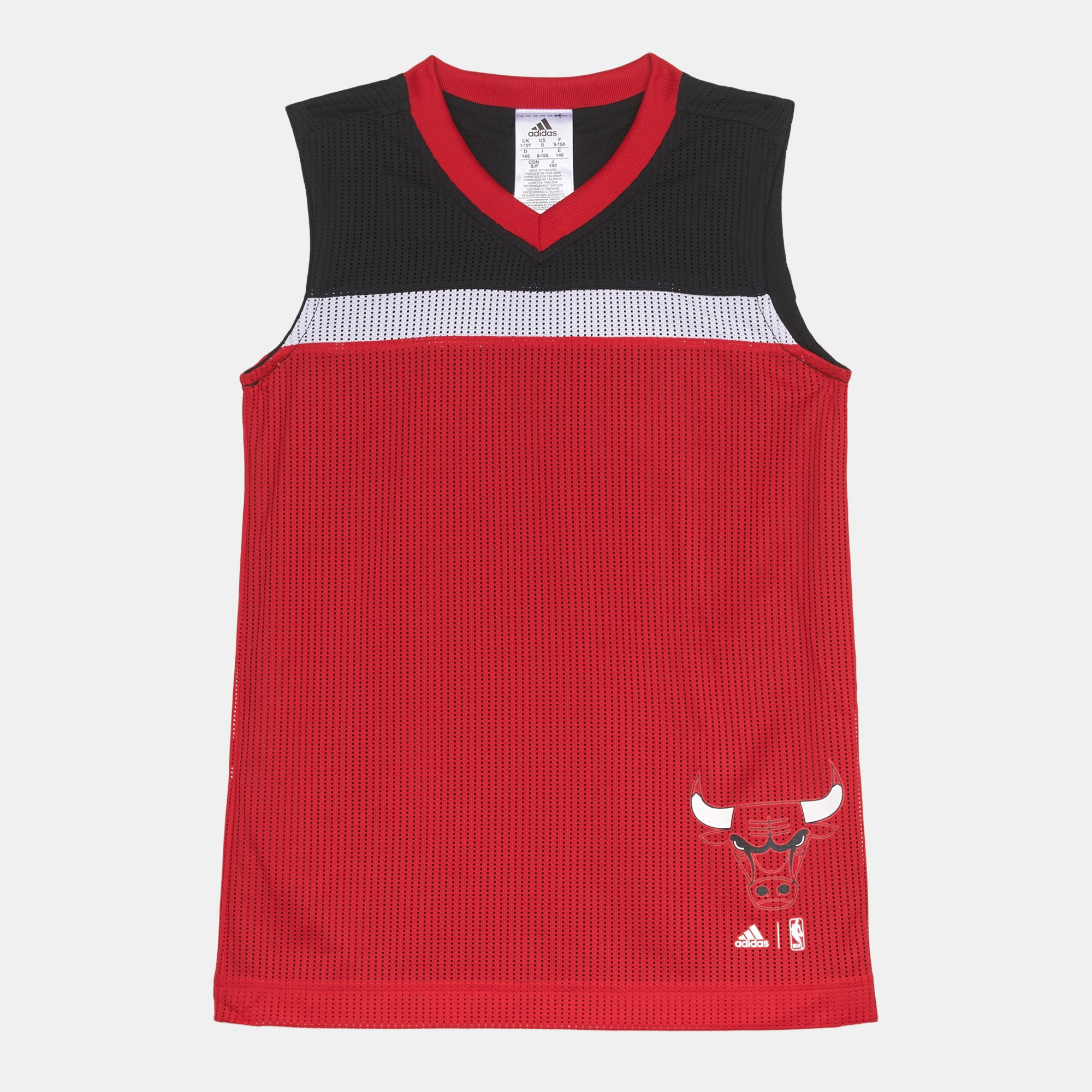 sports shoes e2668 060fa Shop Red adidas Kids' Chicago Bulls Winter Hoops Reversible ...