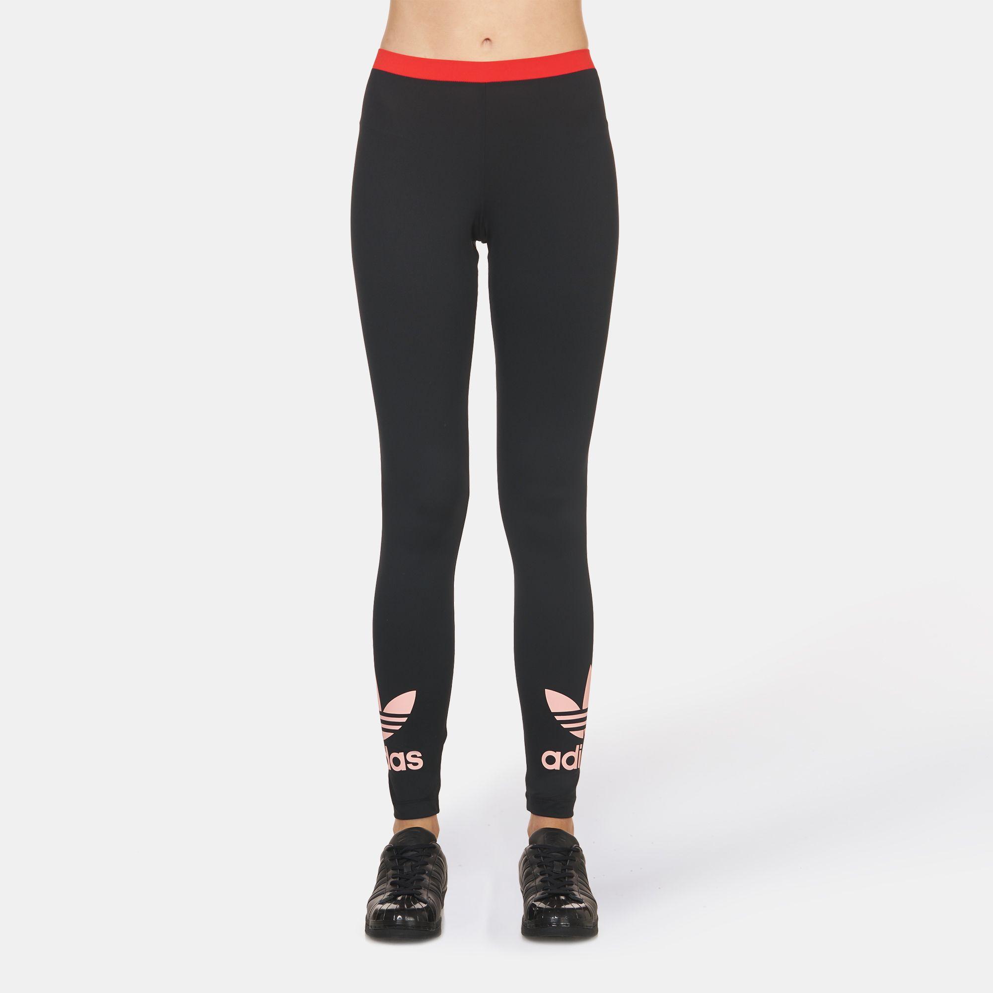 df0af6d43cffee Shop Black adidas Originals Trefoil Leggings for Womens by adidas ...