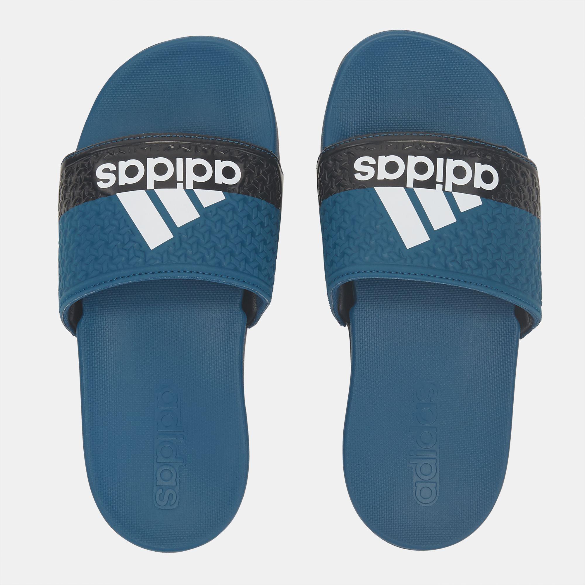 huge selection of 11172 2cc8a adidas Kids Adilette Cloudfoam Plus Slide Sandals - Blue