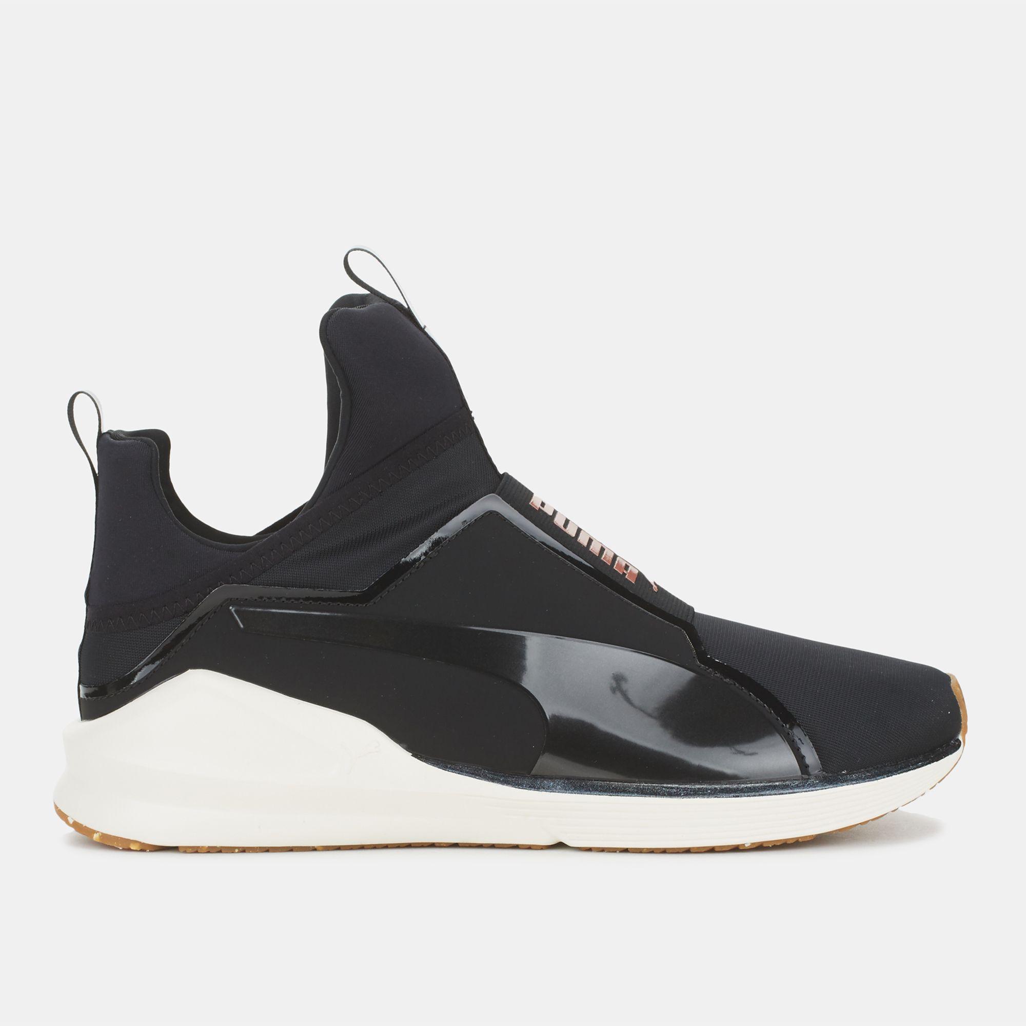 e1a23e9f287d65 Shop Black Puma Velvet Rope Fierce VR Shoe for Womens by PUMA