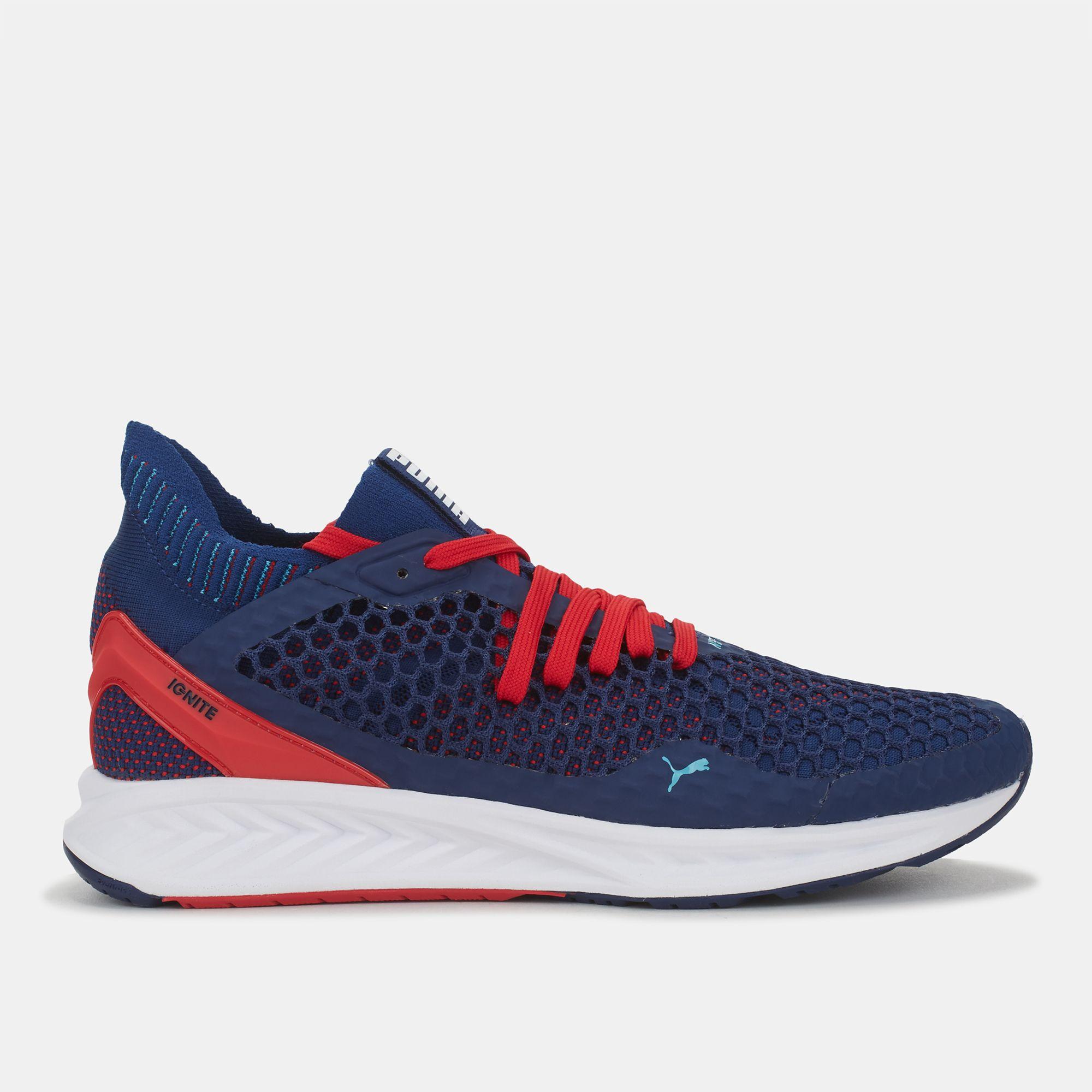 b8cf9d3b727 Shop Blue Puma Speed Ignite Netfit Running Shoe for Mens by PUMA