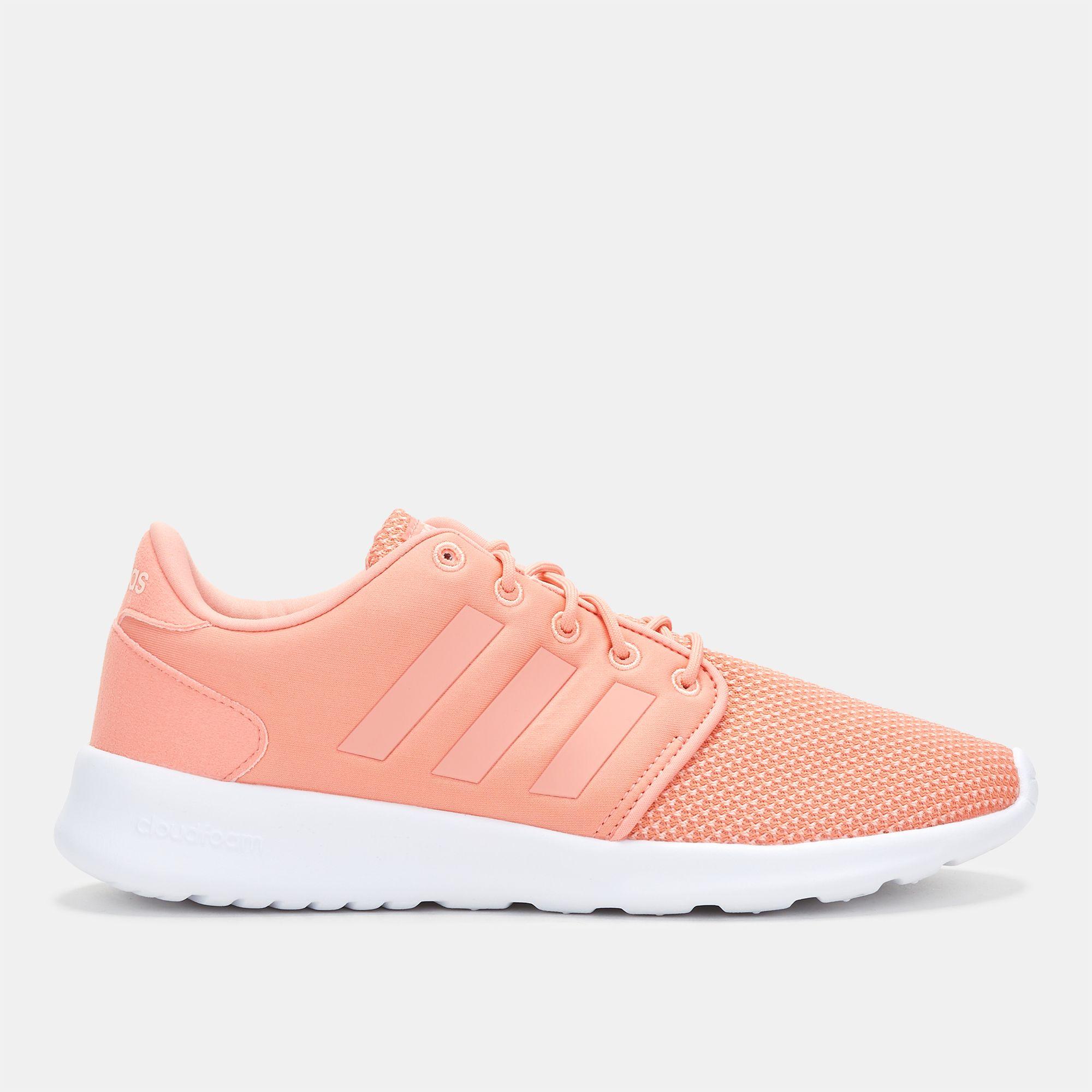 Shop Pink adidas Cloudfoam QT Racer Shoe for Womens by adidas  d71a162bd