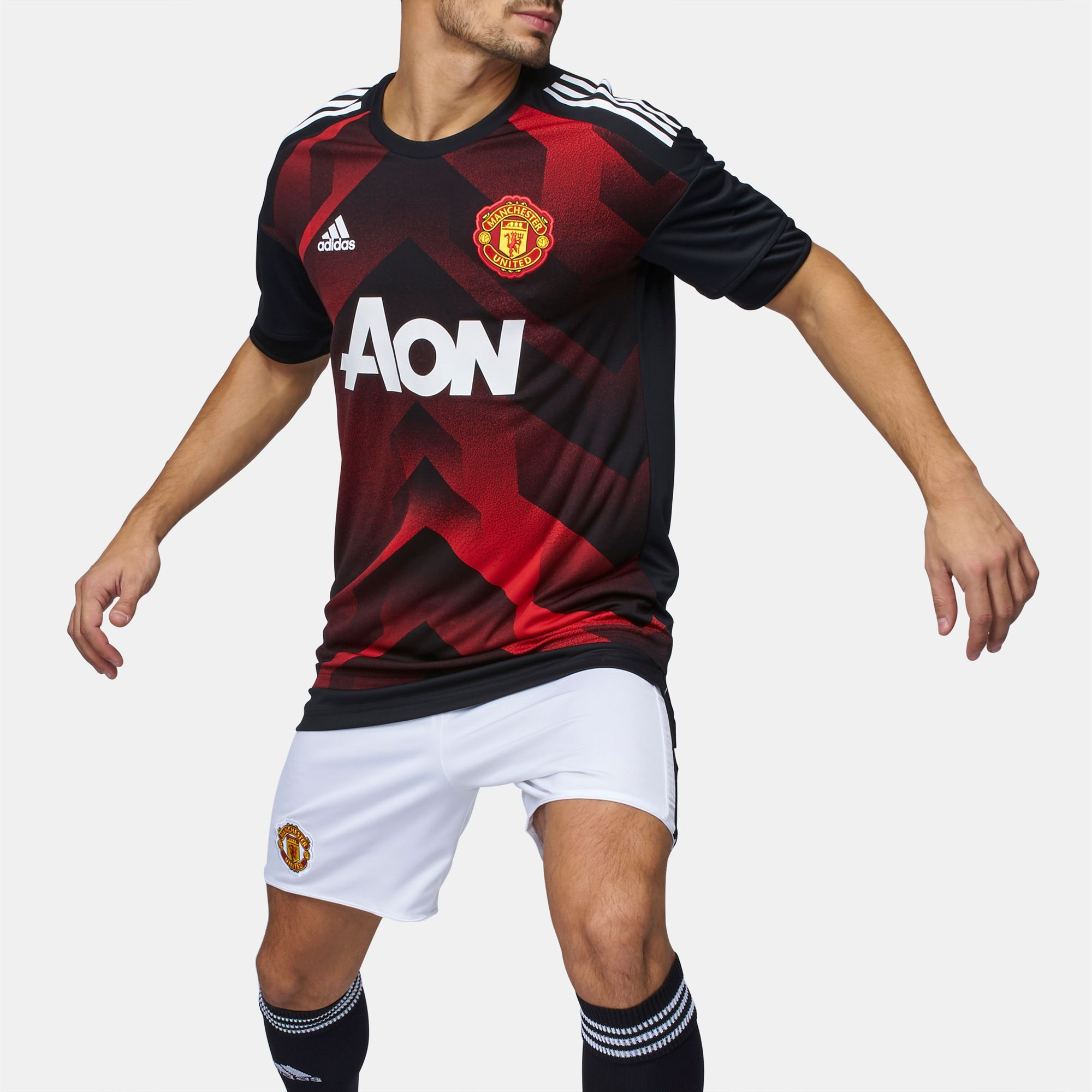 054c71312 Shop Red adidas Manchester United FC Home Pre-match Jersey for Mens by  adidas