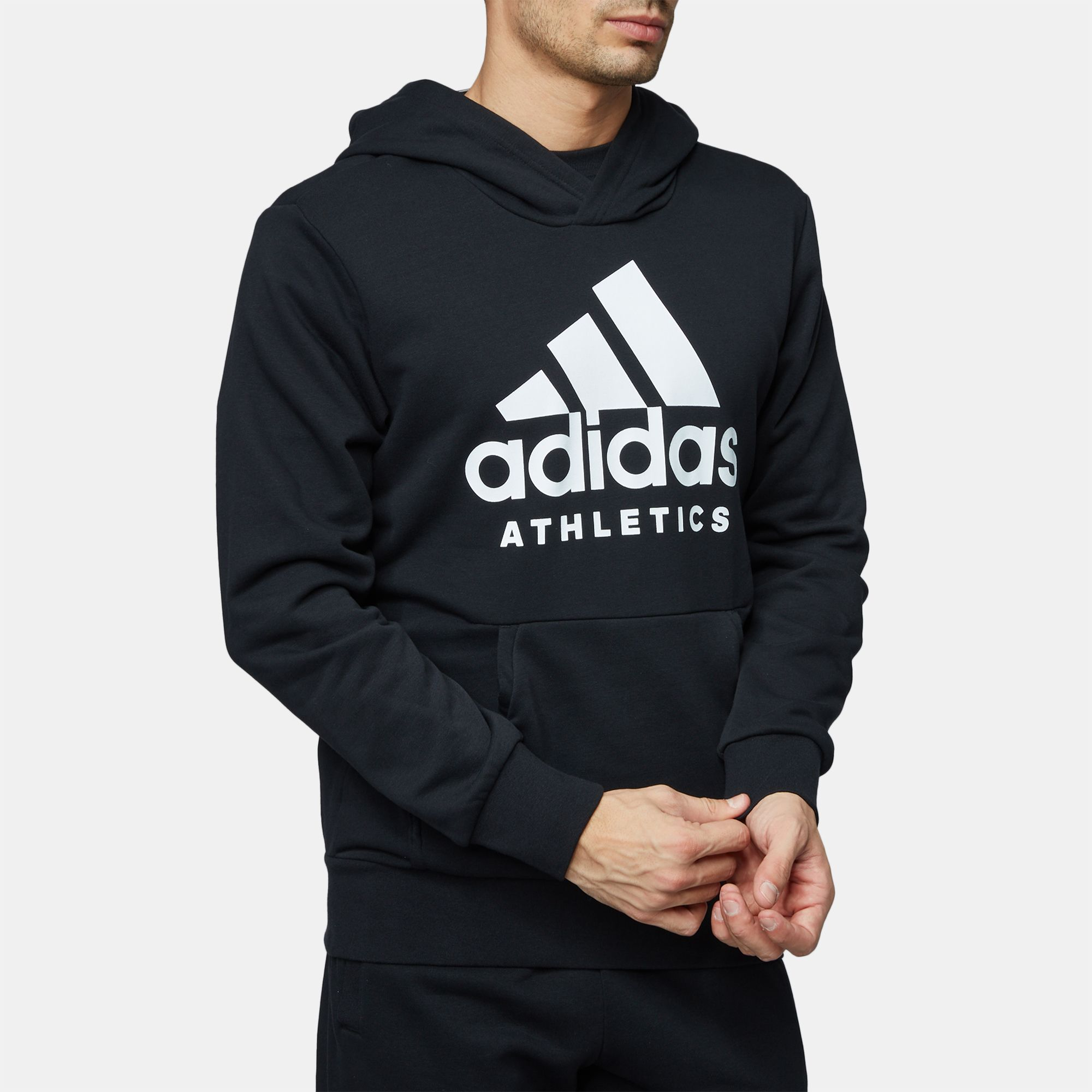 Shop White adidas Sport ID Pullover Hoodie for Mens by